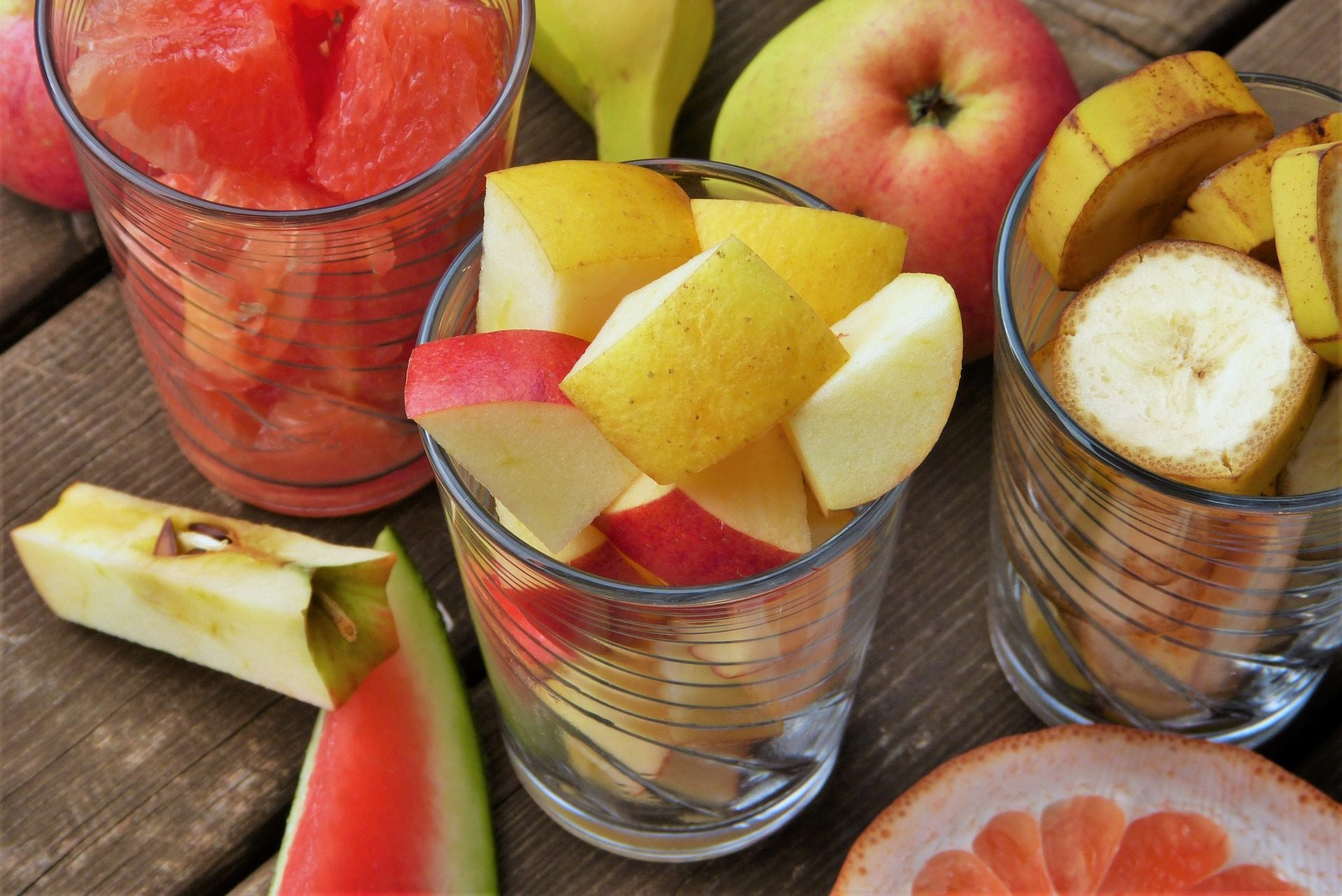 frutta, navi, Cristallo, Apple, Anguria, banane - Sfondi HD - Professor-falken.com
