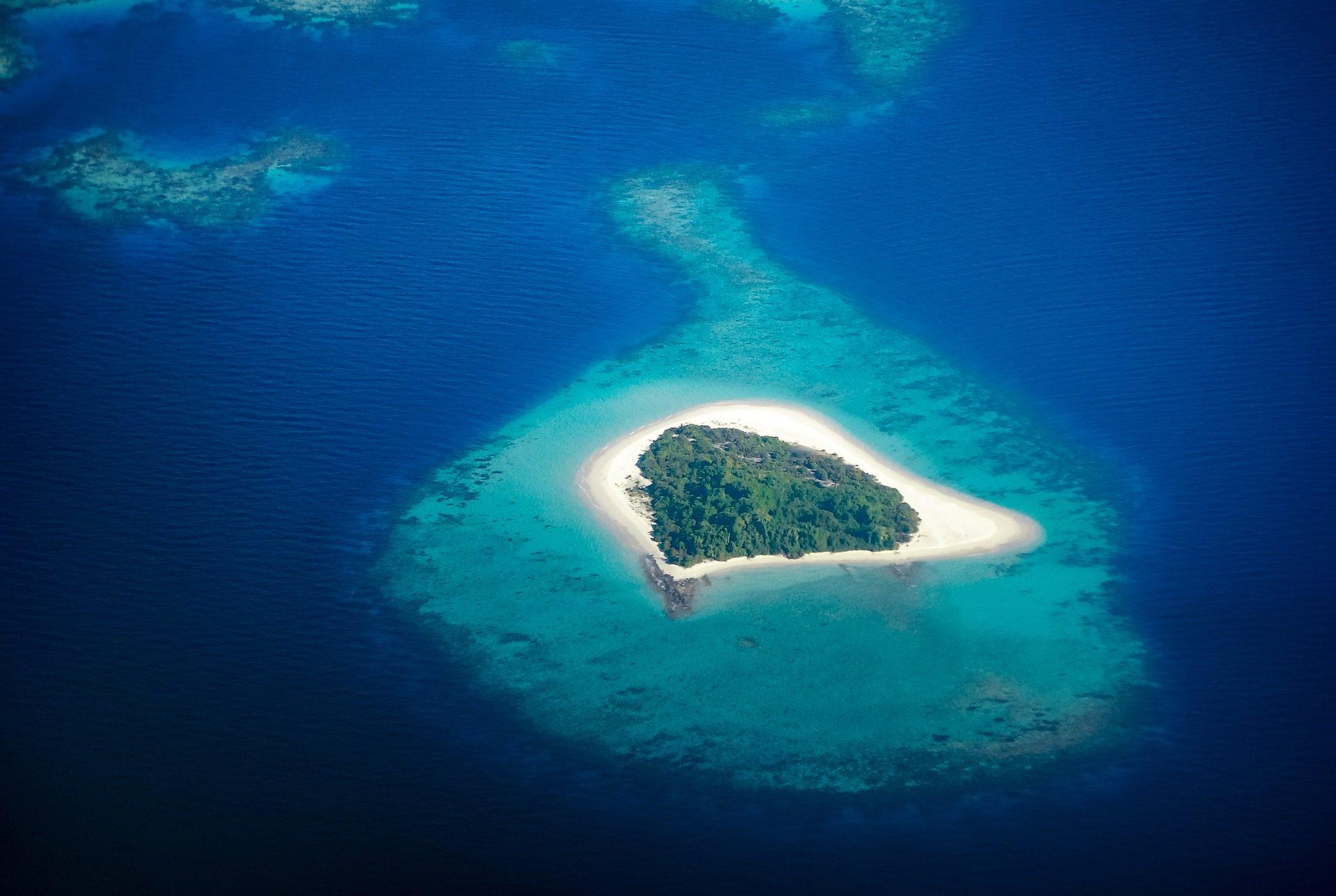 Νησί, Νησάκι, Αρχιπέλαγος, Θάλασσα, Ωκεανός, νερό - Wallpapers HD - Professor-falken.com