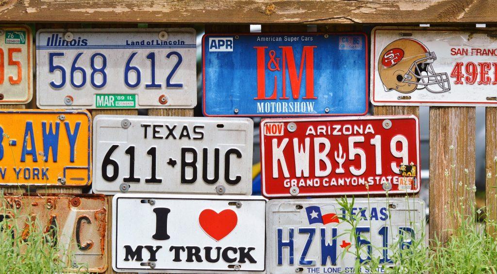 车辆登记, 牌, 板, 集合, 栅栏, 1711021956
