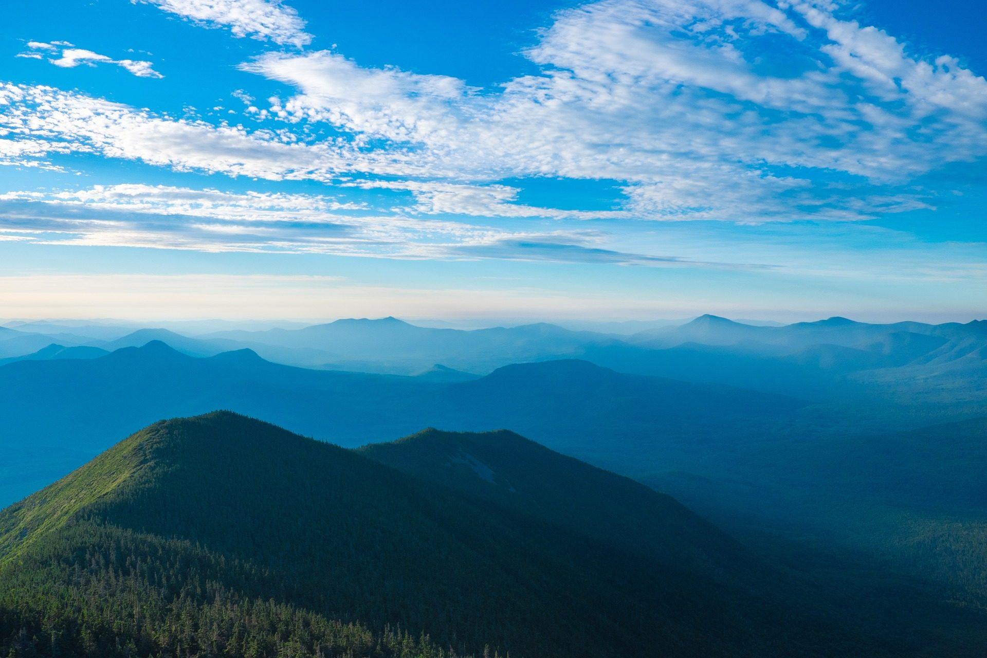 山脉, 峰, 比萨饼, 高度, 地平线, 雾, 云彩, 天空 - 高清壁纸 - 教授-falken.com