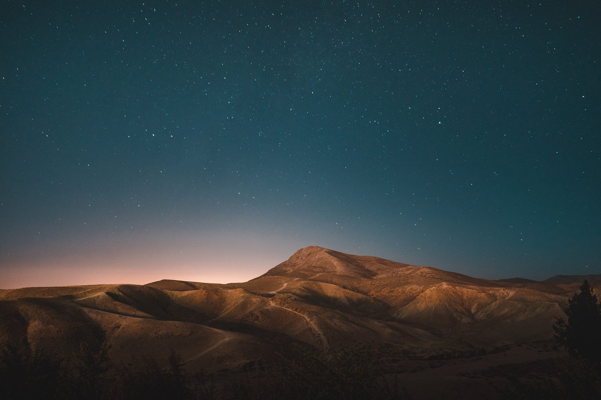 Montañas, 小山, 沙漠, 晚上, 星级, 天空, 马什哈德, 伊朗 - 高清壁纸 - 教授-falken.com
