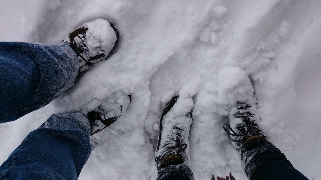 pernas, botas, neve, pegadas, pisadas, 1711191719