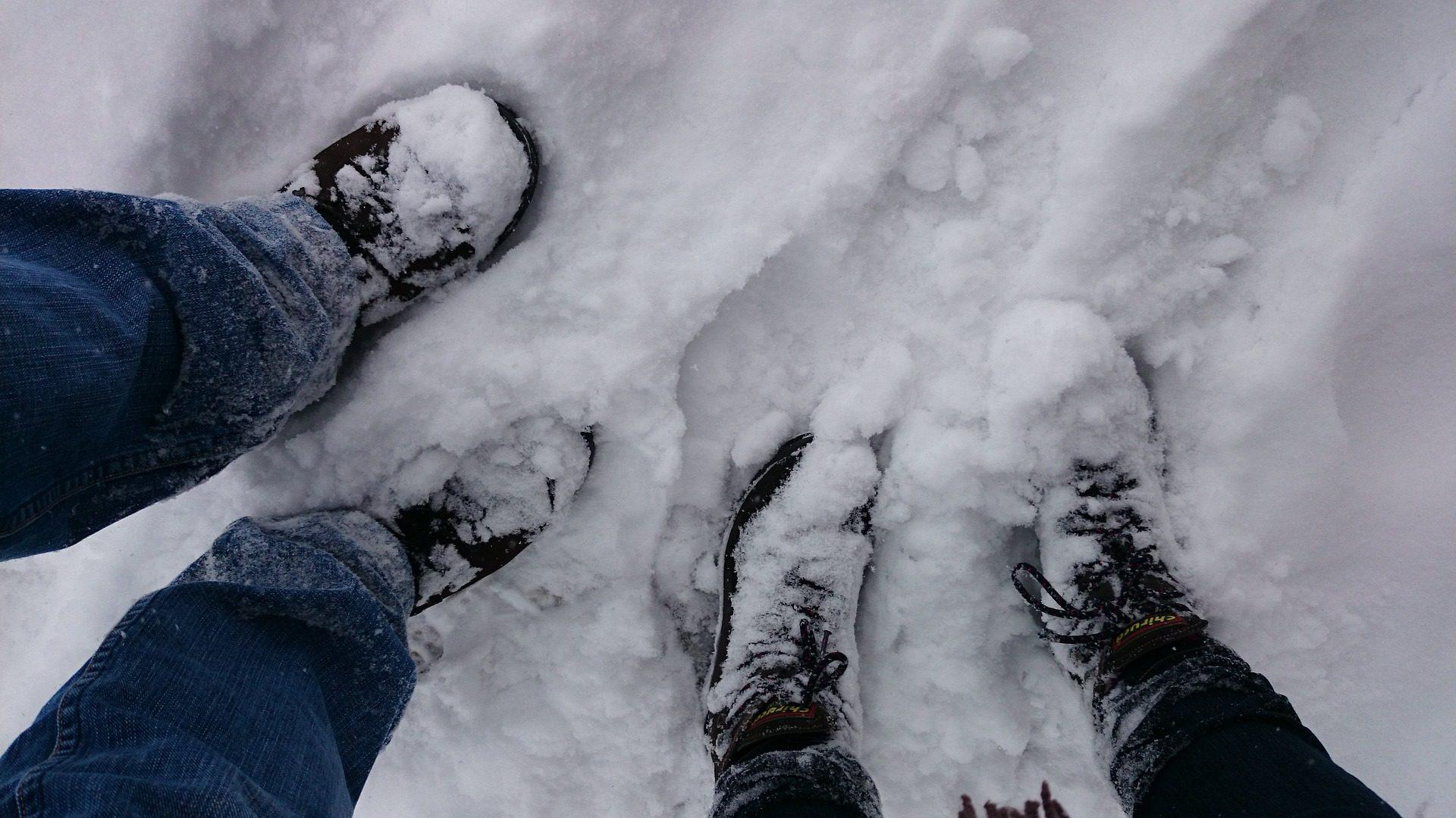 πόδια, μπότες, χιόνι, πατημασιές, χνάρια - Wallpapers HD - Professor-falken.com