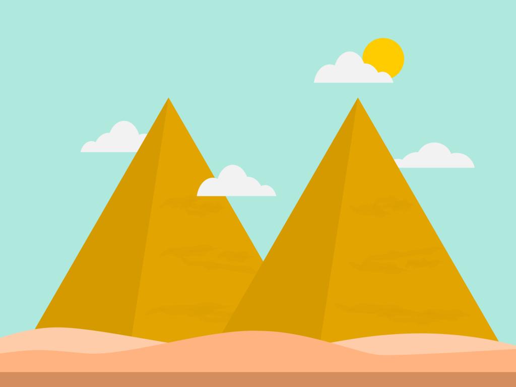 pirámides, nubes, sol, cielo, desierto, arena, 1711171237