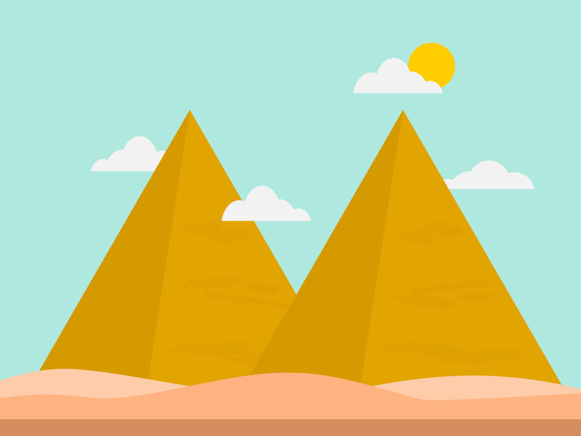 Pirámides, nuages, Sun, Sky, désert, sable - Fonds d'écran HD - Professor-falken.com