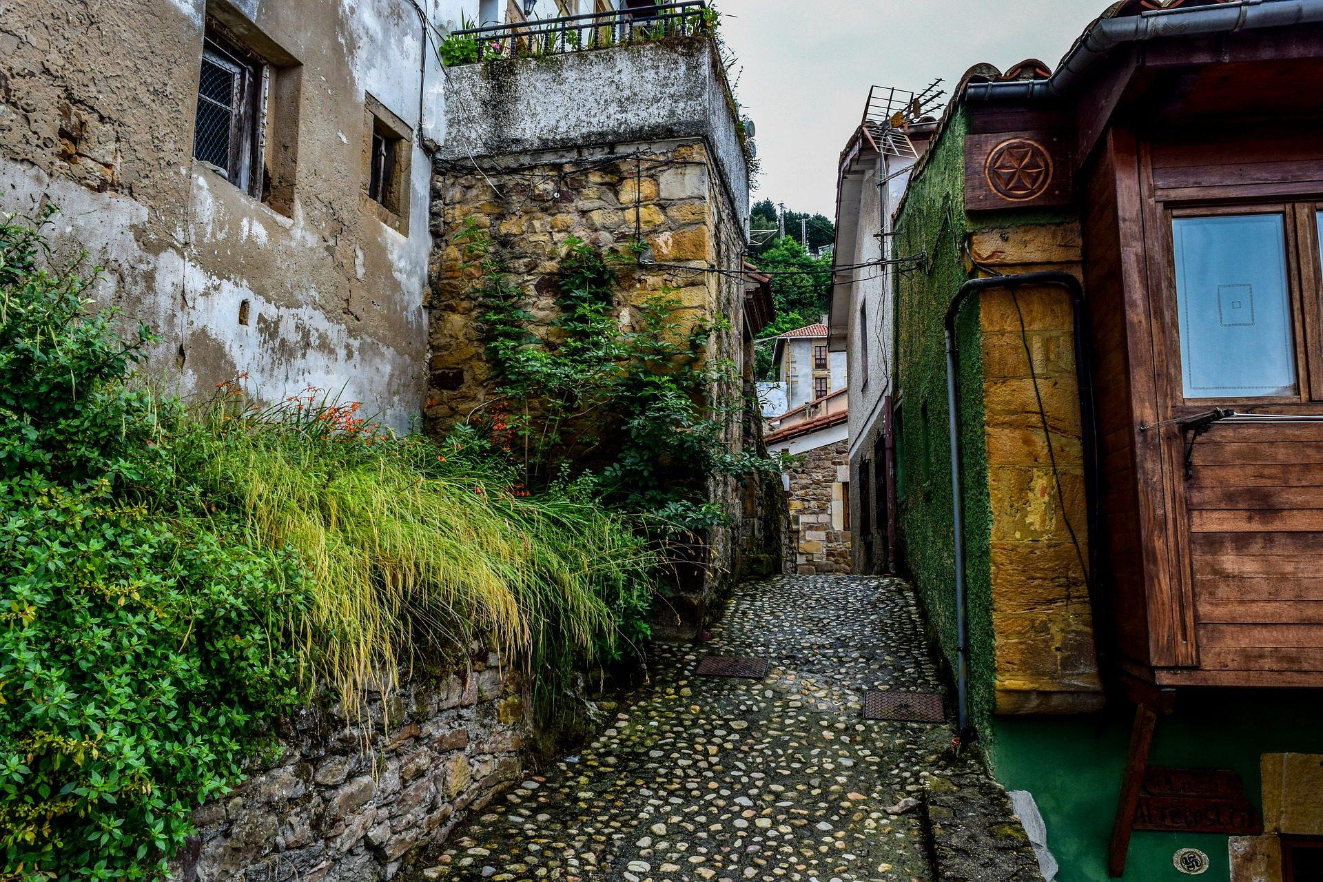pueblo, casas, rural, callejuela, asturias - Fondos de Pantalla HD - professor-falken.com