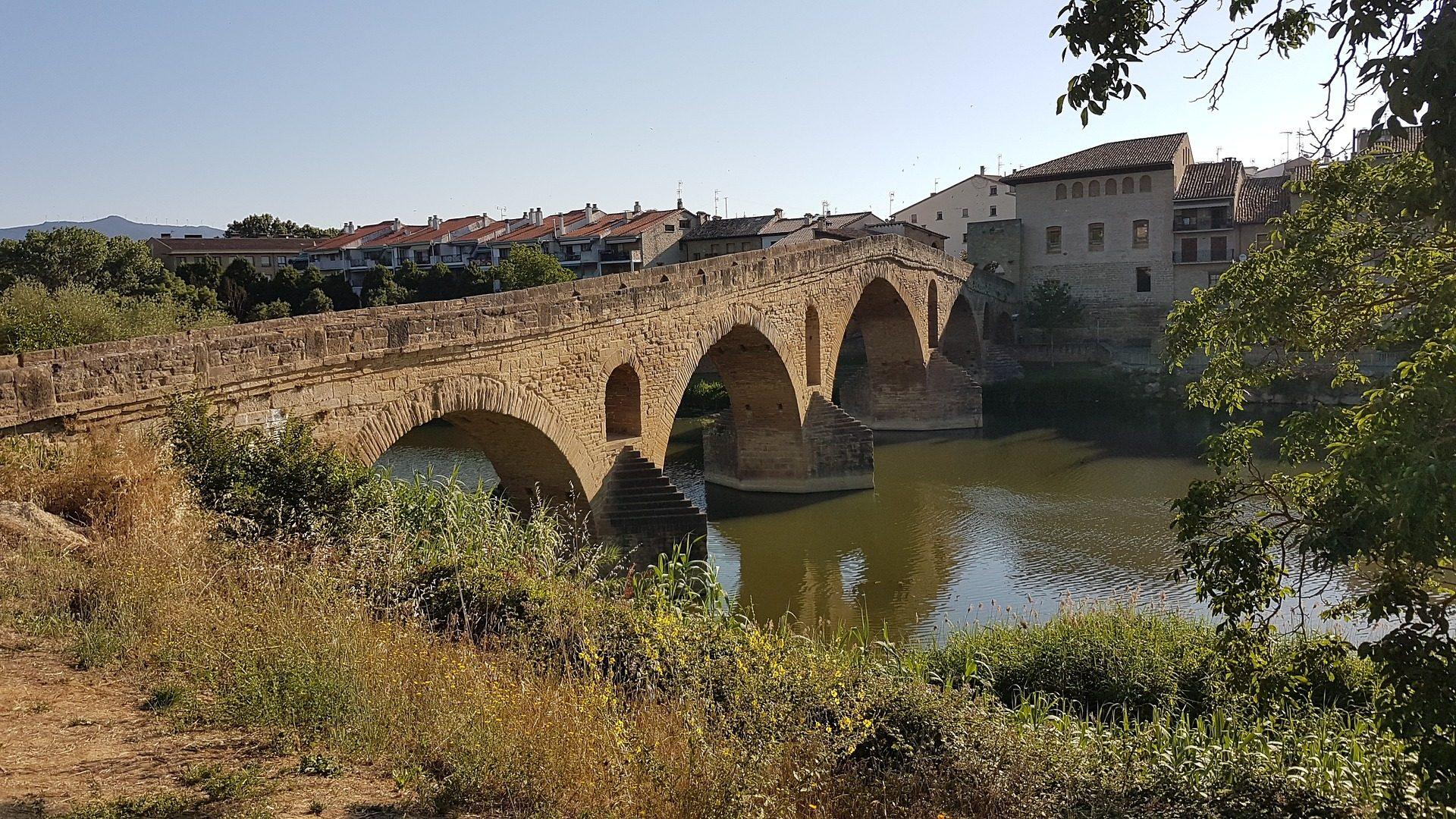 村, 川, ブリッジ, 水, フィールド - HD の壁紙 - 教授-falken.com