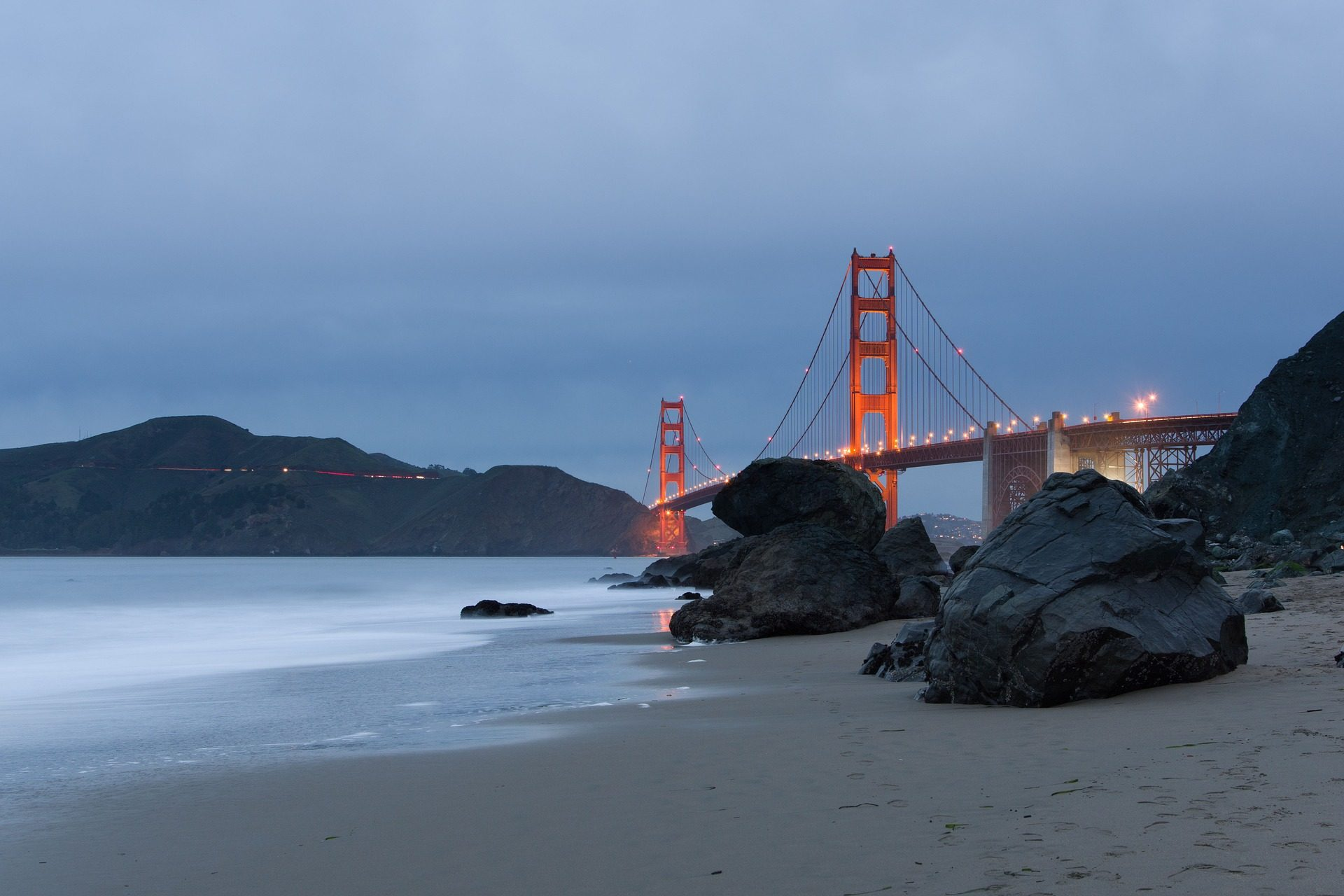 Brücke, Golden gate, Architektur, Meer, Ozean, Rocas, Costa, San francisco - Wallpaper HD - Prof.-falken.com