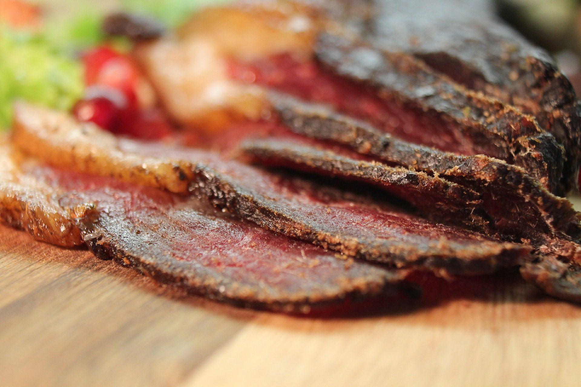 切片, 小牛肉, 肉, seca, 干 - 高清壁纸 - 教授-falken.com