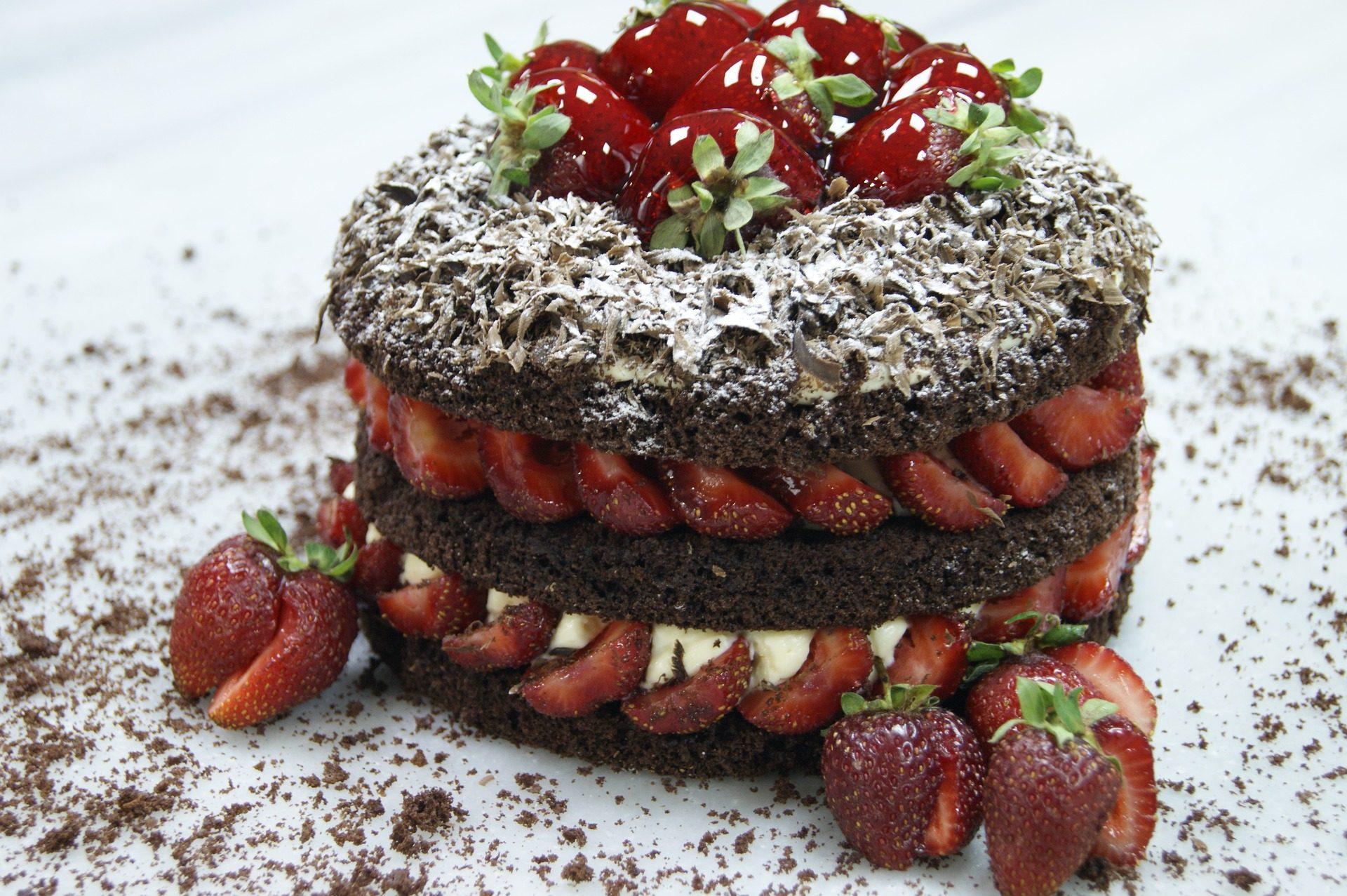 tarta, торт, Клубника, Шоколад, вкусный, сладкий - Обои HD - Профессор falken.com