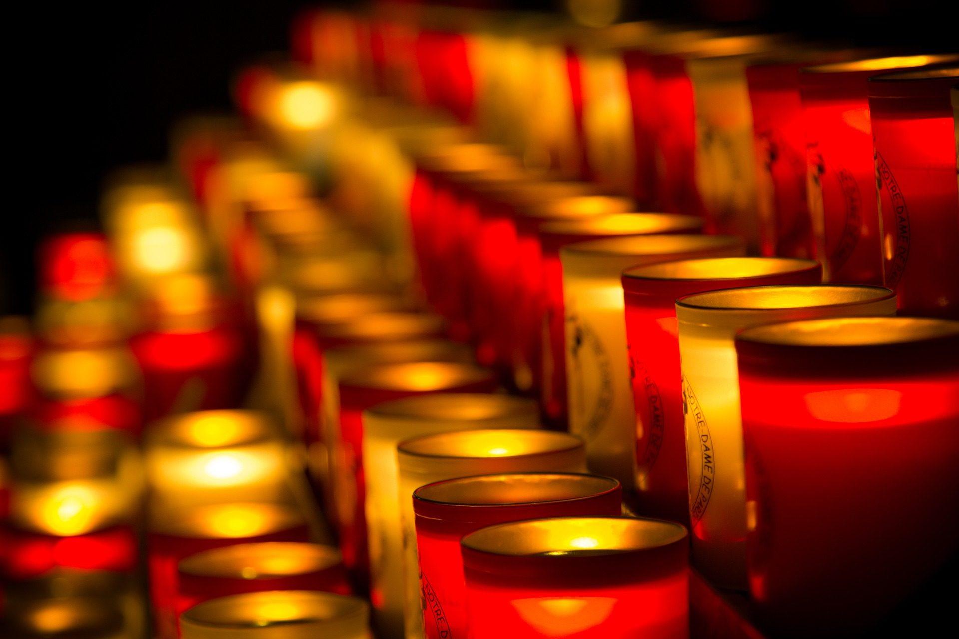 velas, luzes, promessas, solicitações de, Nossa Senhora, Paris - Papéis de parede HD - Professor-falken.com