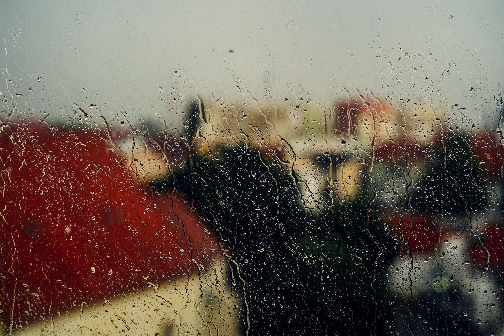 fenêtre de, eau, pluie, DROPS numéro, maisons, Floue, floue - Fonds d'écran HD - Professor-falken.com