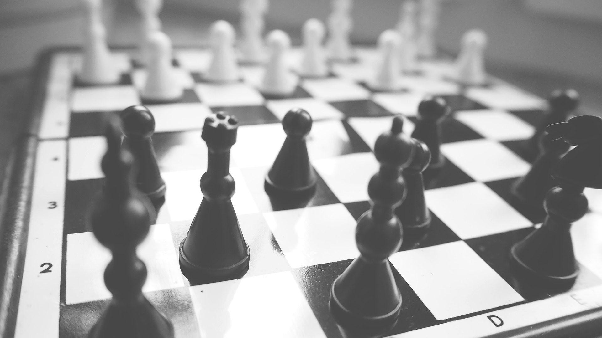ajedrez, juego, tablero, piezas, estrategia, en blanco y negro - Fondos de Pantalla HD - professor-falken.com
