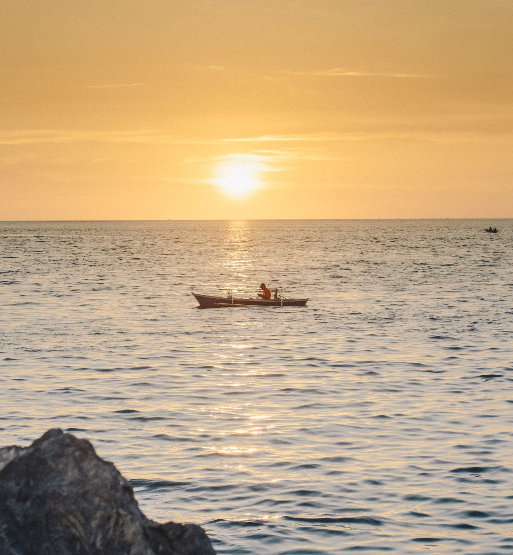 バルサ, 釣り, 漁師, mar, 海, サンセット, 地平線 - HD の壁紙 - 教授-falken.com