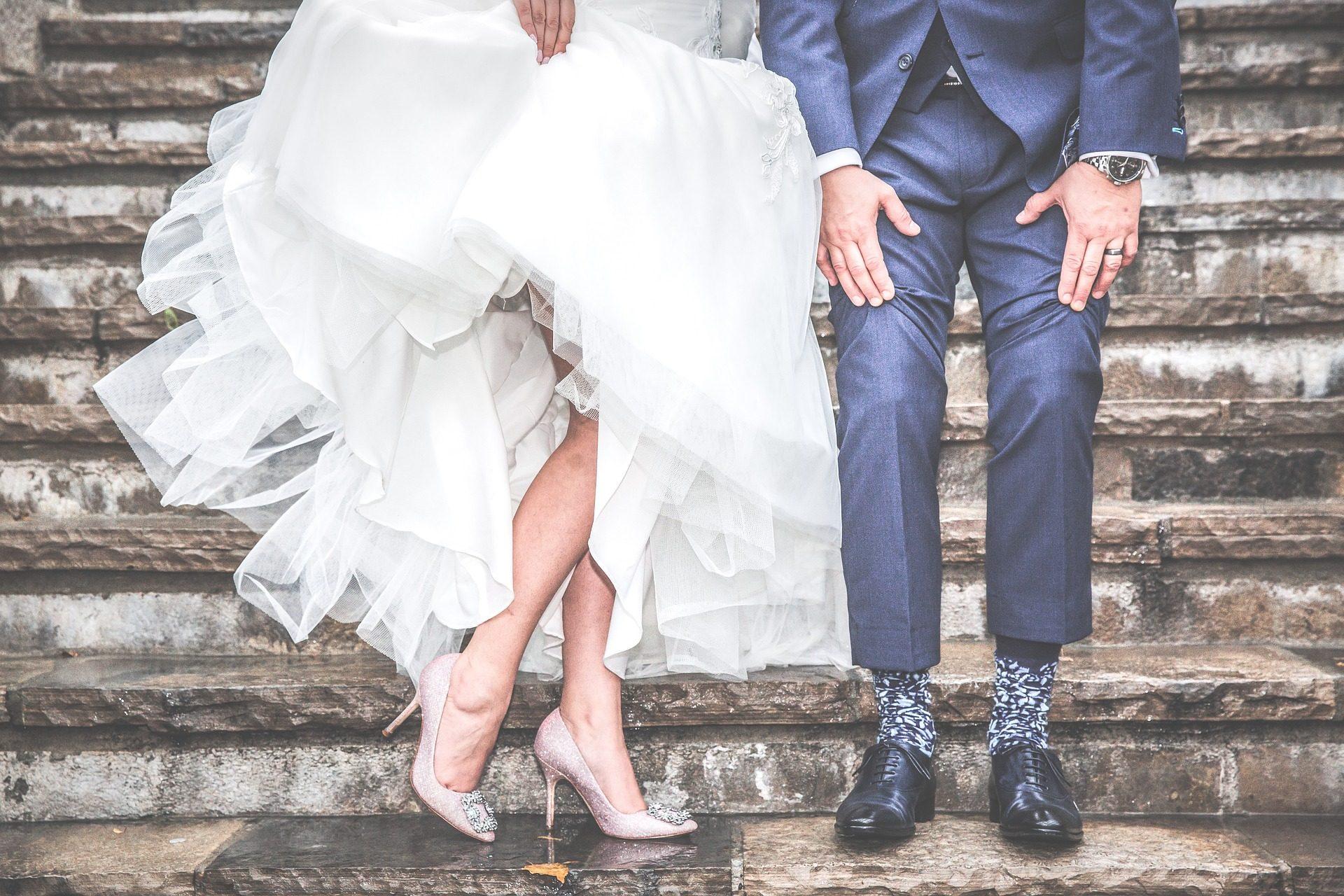 زفاف, زوجين, الارتباط, الزواج, أحذية, درج معالجته - خلفيات عالية الدقة - أستاذ falken.com