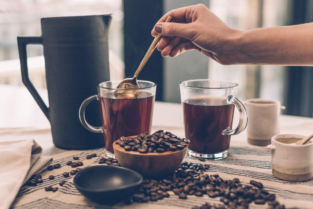 咖啡, 茶, 输液, 谷物, 杯子, 水罐, 碗里, 1712300812