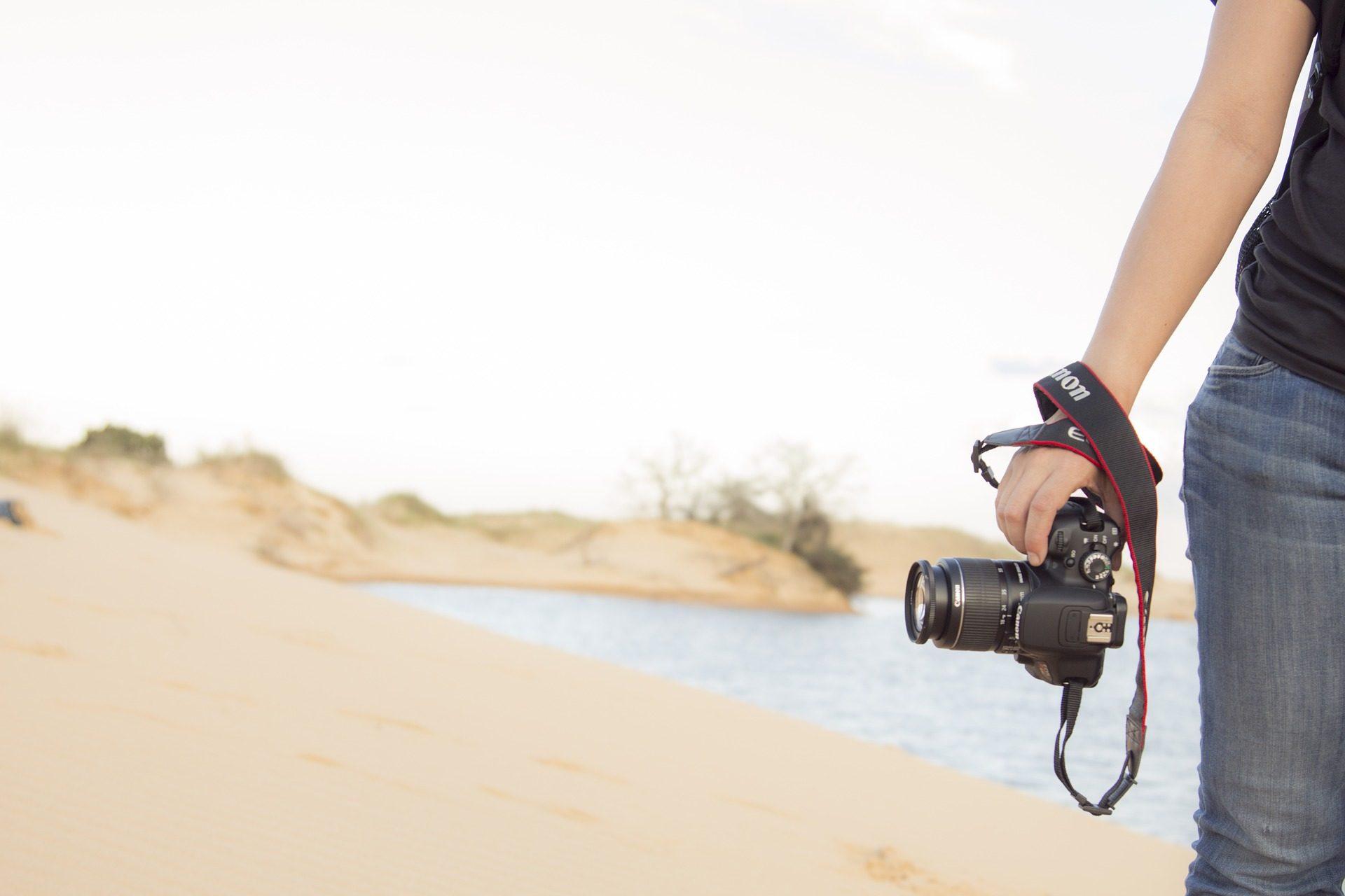 fotocamera, fotografia, fotografo, donna, Spiaggia, acqua - Sfondi HD - Professor-falken.com