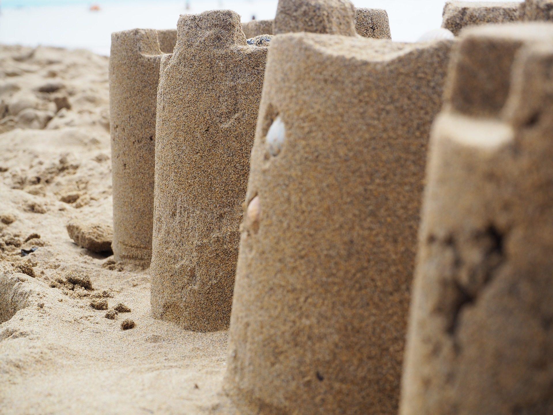 القلعة, الرمال, الشاطئ, لعبة, البحر - خلفيات عالية الدقة - أستاذ falken.com