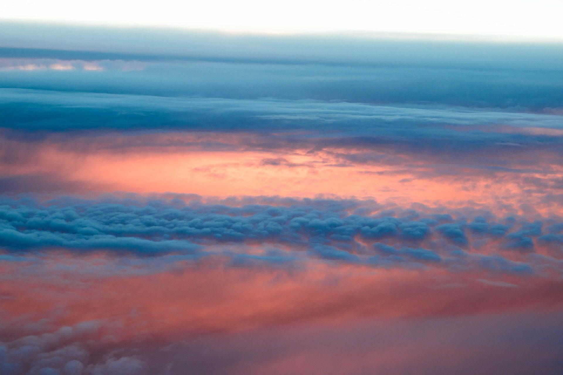 Cielo, nuvole, nuvoloso, cluster, colorato, Tramonto - Sfondi HD - Professor-falken.com