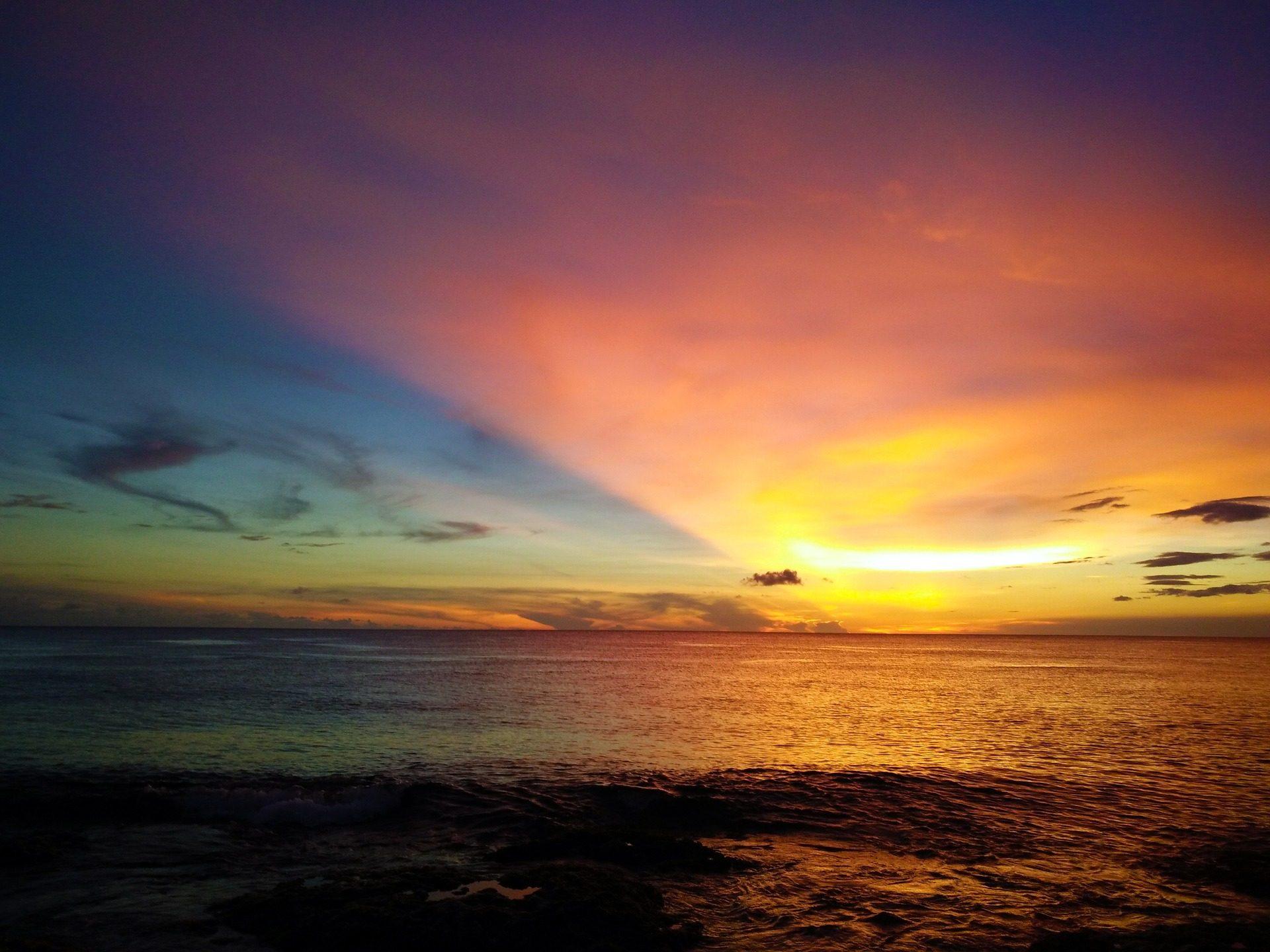 天空, 色调, 多彩, 日落, 海, 海洋 - 高清壁纸 - 教授-falken.com