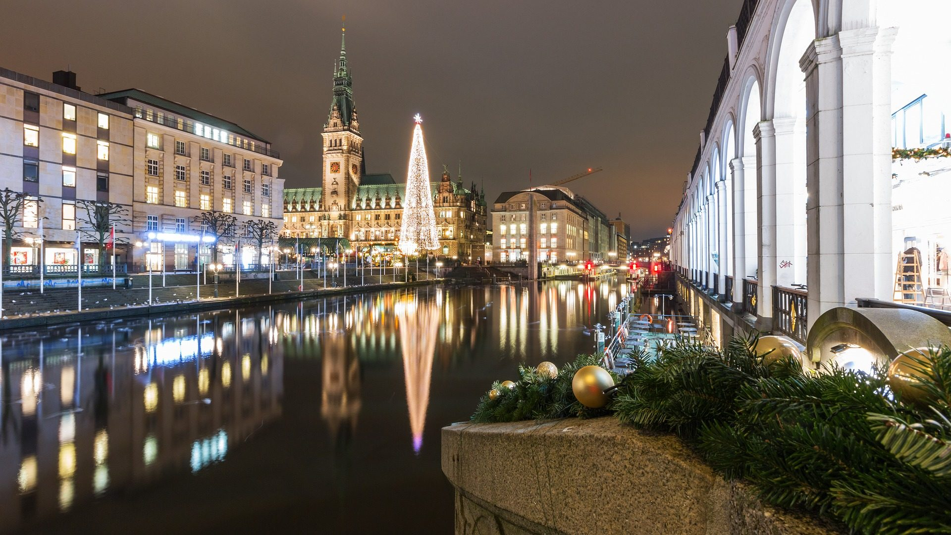 शहर, रोशनी, गहने, सजावट, क्रिसमस, hamburgo - HD वॉलपेपर - प्रोफेसर-falken.com