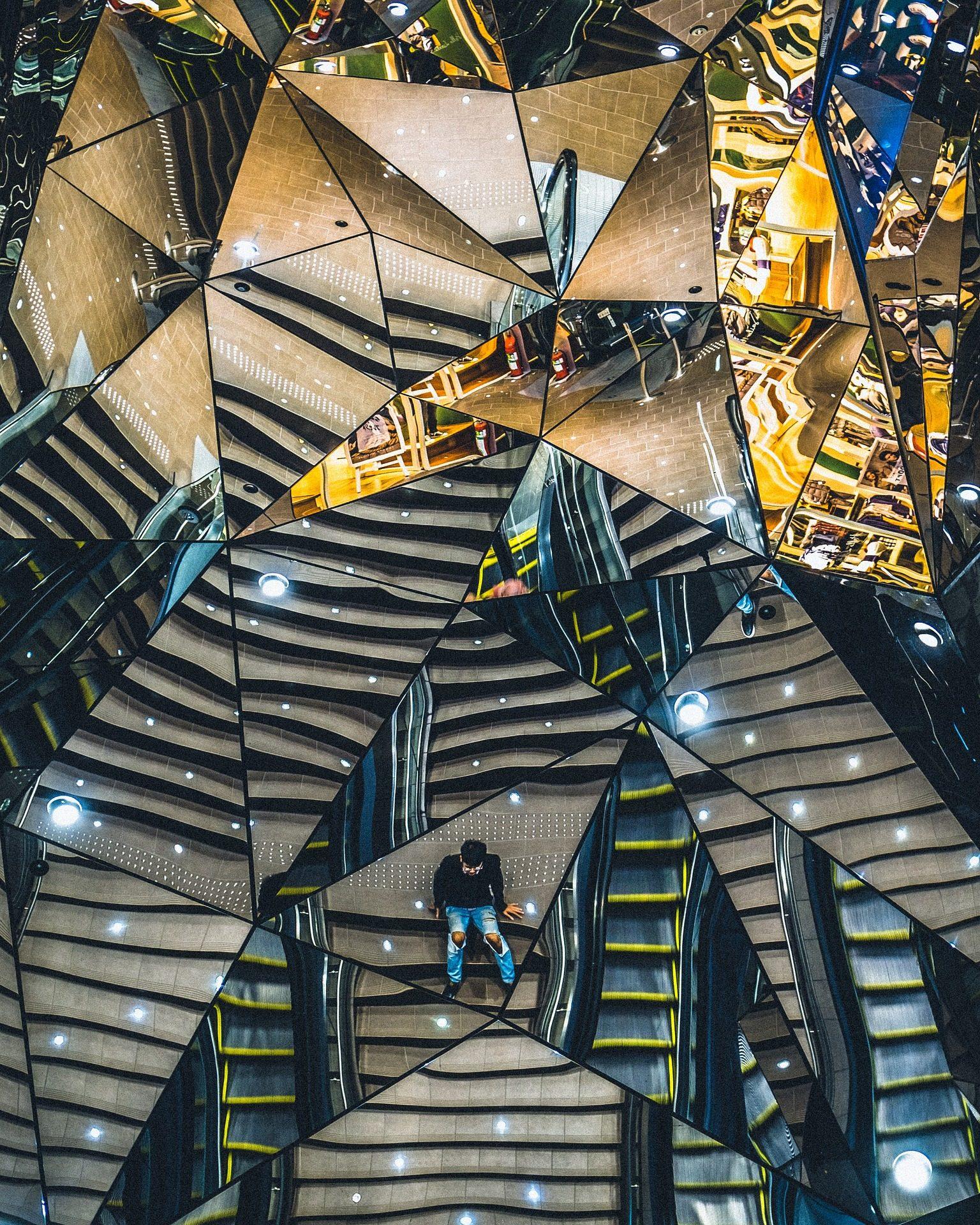 costruzione, specchi, cristalli, riflessioni, architettura - Sfondi HD - Professor-falken.com