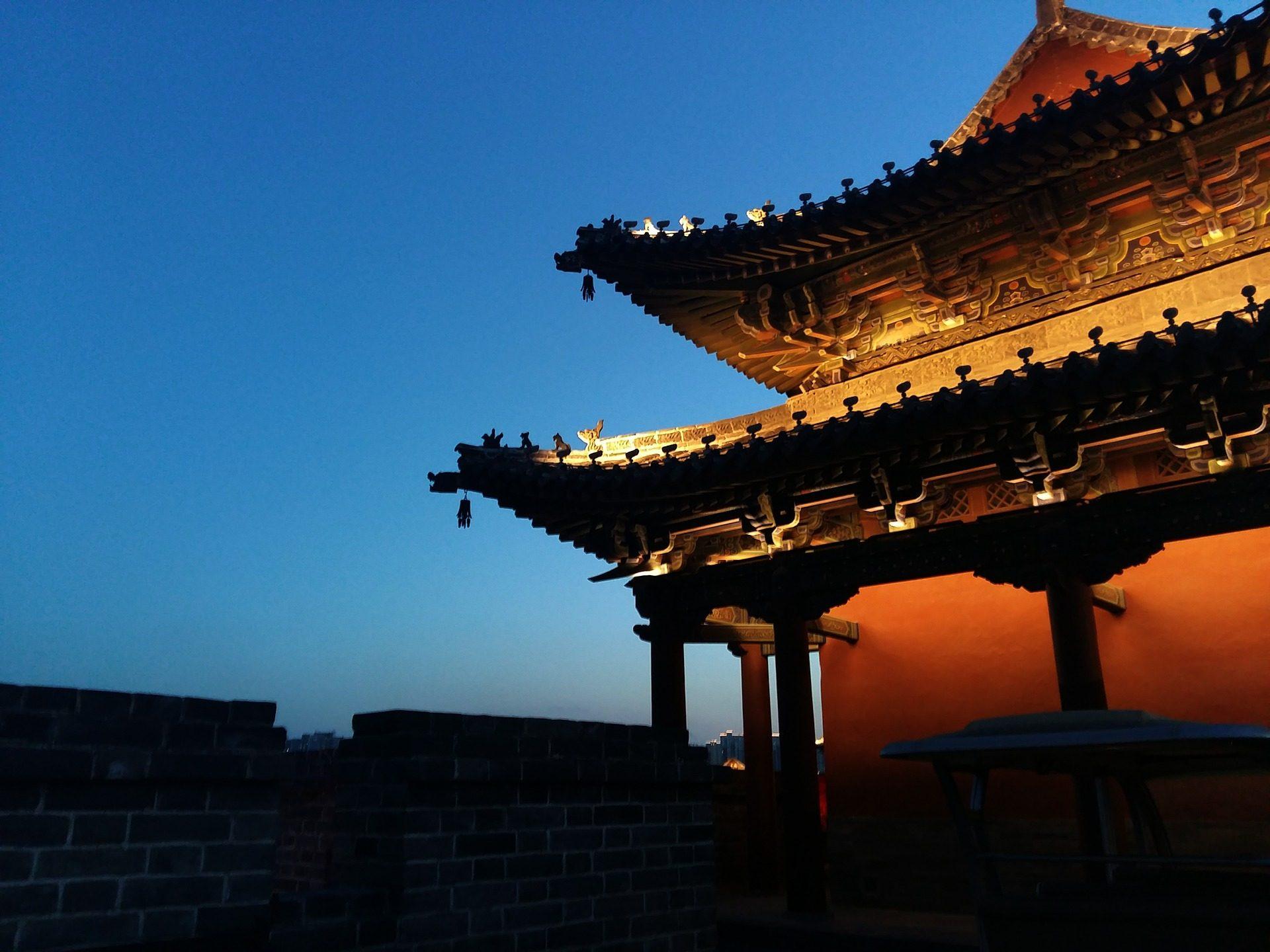 costruzione, tetto, Orientale, ombre, Cina - Sfondi HD - Professor-falken.com