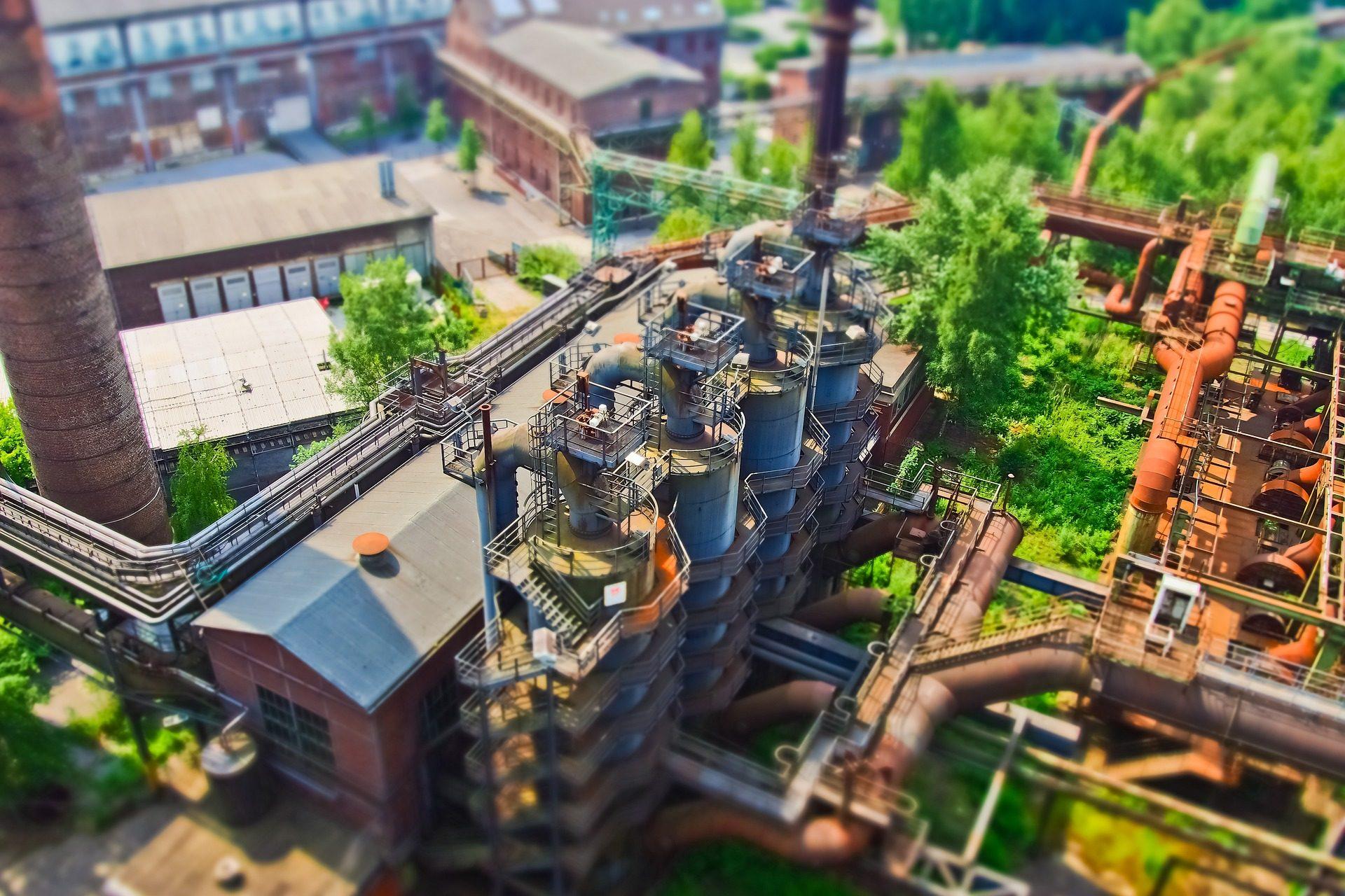 usine, bâtiment, architecture, Air, arbres, cheminées - Fonds d'écran HD - Professor-falken.com