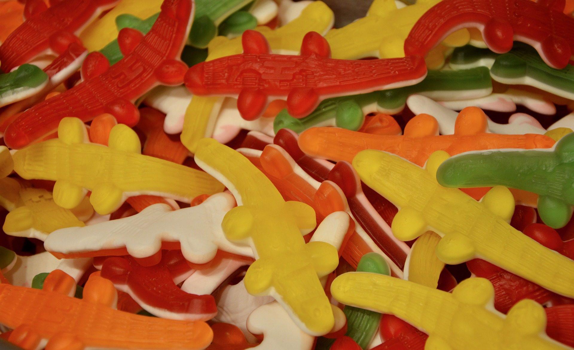 gominolas, 小玩意, 软糖, 鳄鱼, 甜, 多彩 - 高清壁纸 - 教授-falken.com