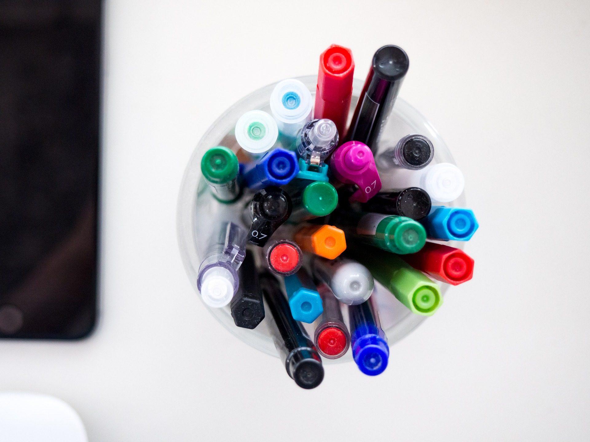 lapicero, χρώματα, Ανεστυλό�ι Μαρκαδόροι, bolígrafos, πολλά, πολύχρωμο - Wallpapers HD - Professor-falken.com