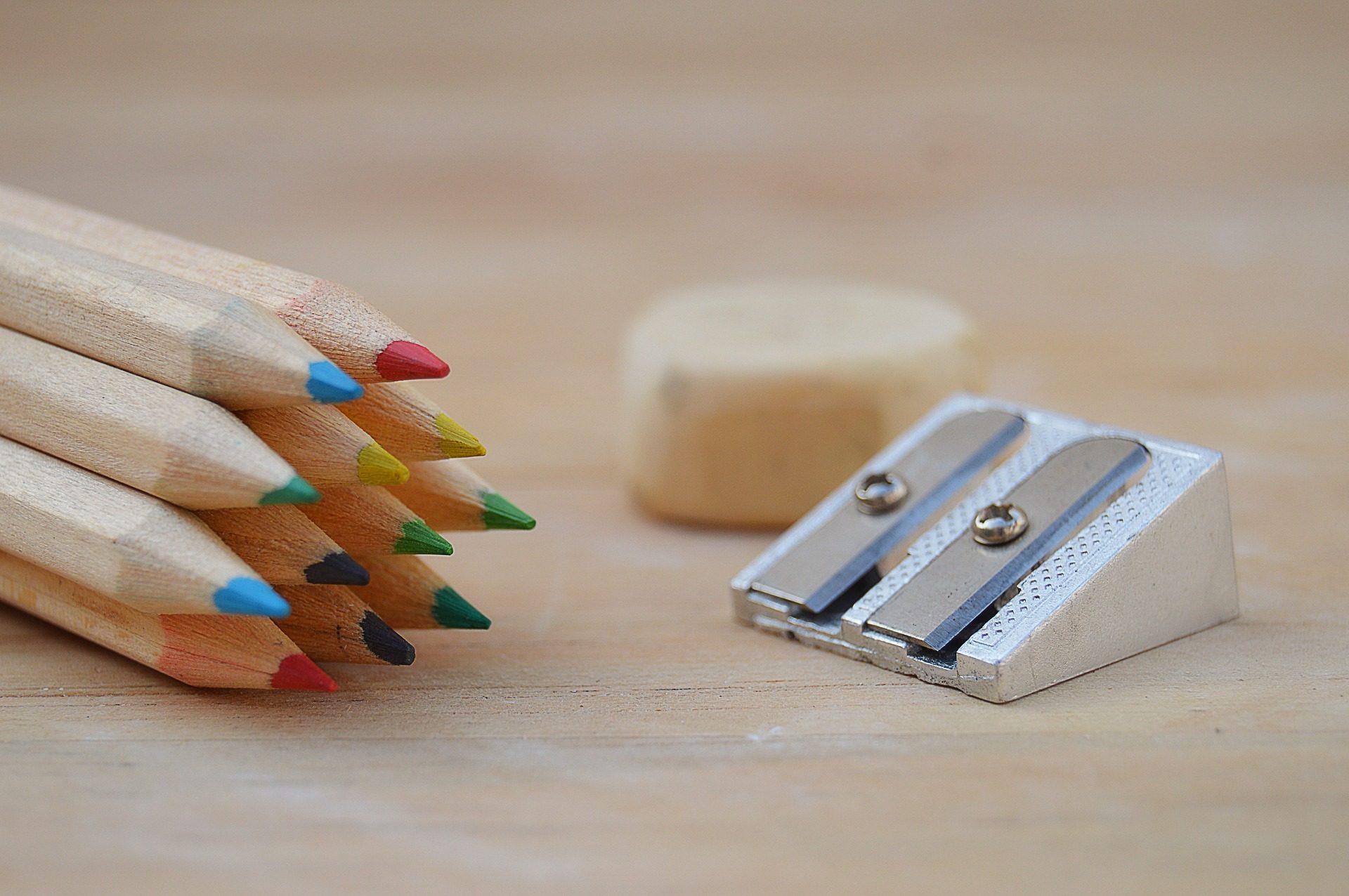 أقلام الرصاص, الخشب, الألوان, قلم رصاص المبرأة, المطاط - خلفيات عالية الدقة - أستاذ falken.com