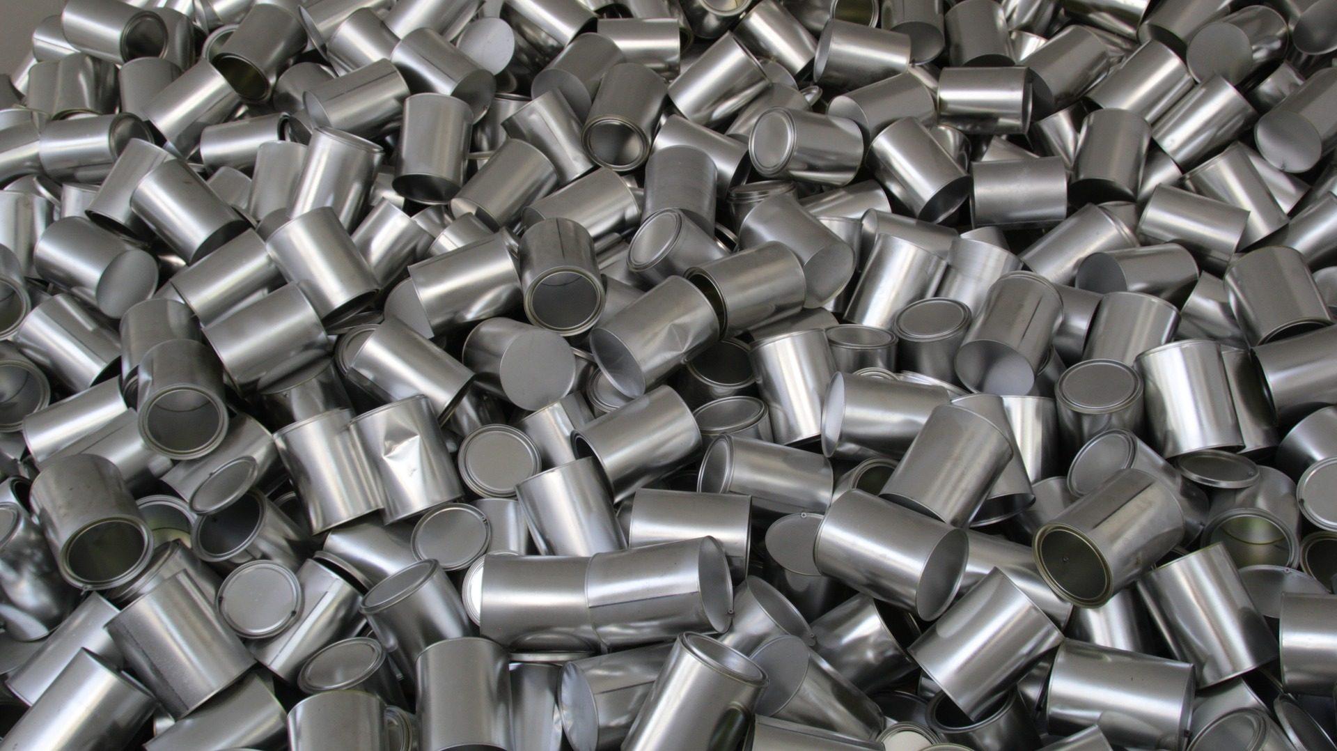 lattine, cilindri, in alluminio, metallo, luminosità, sacco - Sfondi HD - Professor-falken.com
