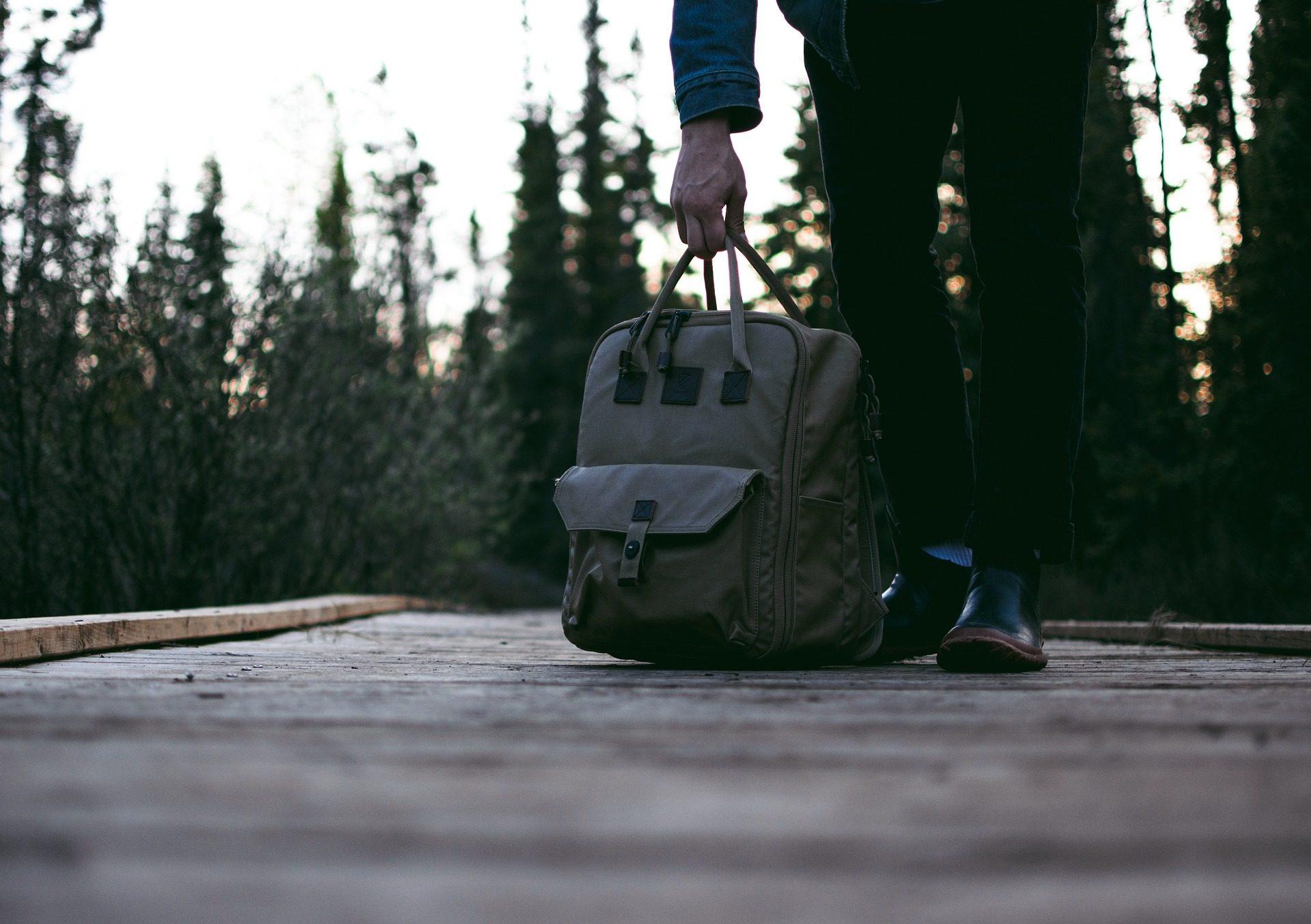 mochila, حقيبة, رجل, الأشجار, الطريق, درب - خلفيات عالية الدقة - أستاذ falken.com
