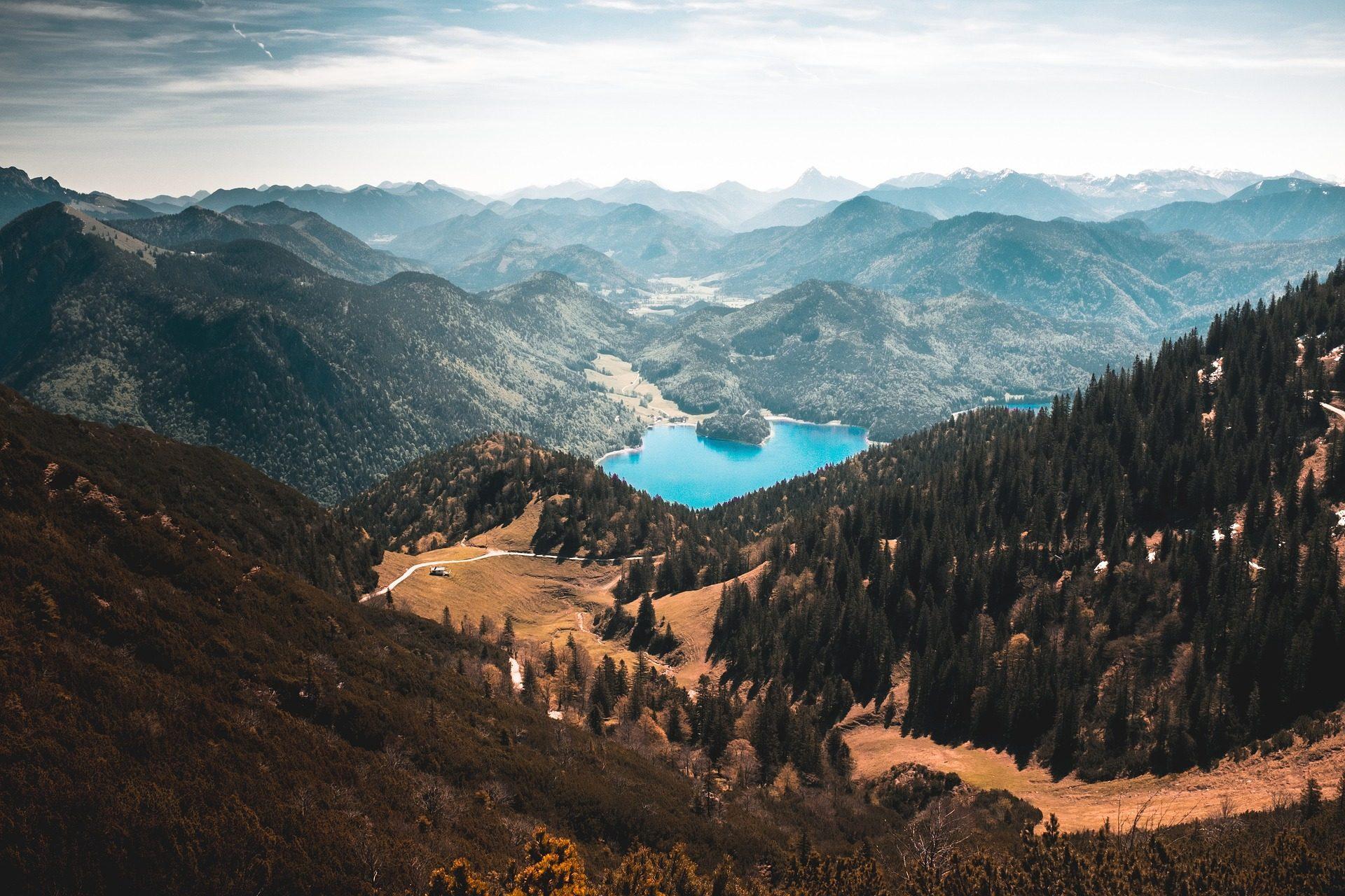 Montañas, arbres, hauteurs, Lake, Réservation - Fonds d'écran HD - Professor-falken.com