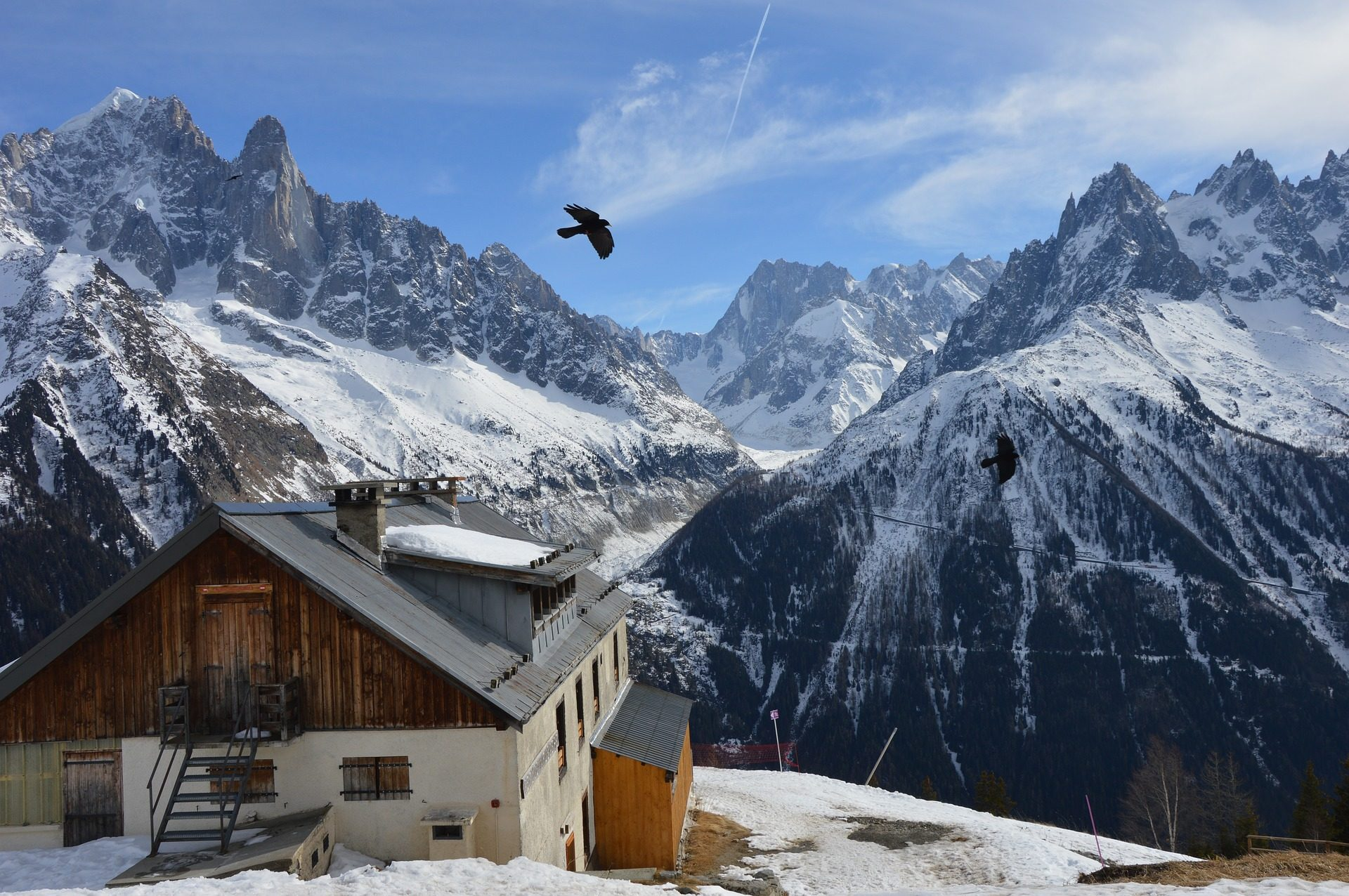 Montañas, Πίτσα, χιόνι, Σπίτι, Λ., ύψη - Wallpapers HD - Professor-falken.com