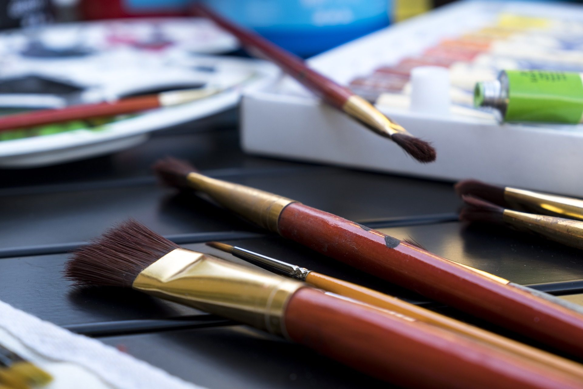 pinceles, لوحاتفرشas, الألوان, اﻷكريليك - خلفيات عالية الدقة - أستاذ falken.com