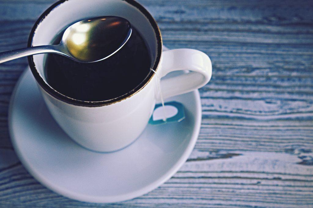 té, taza, cuchara, infusión, madera, 1712291038