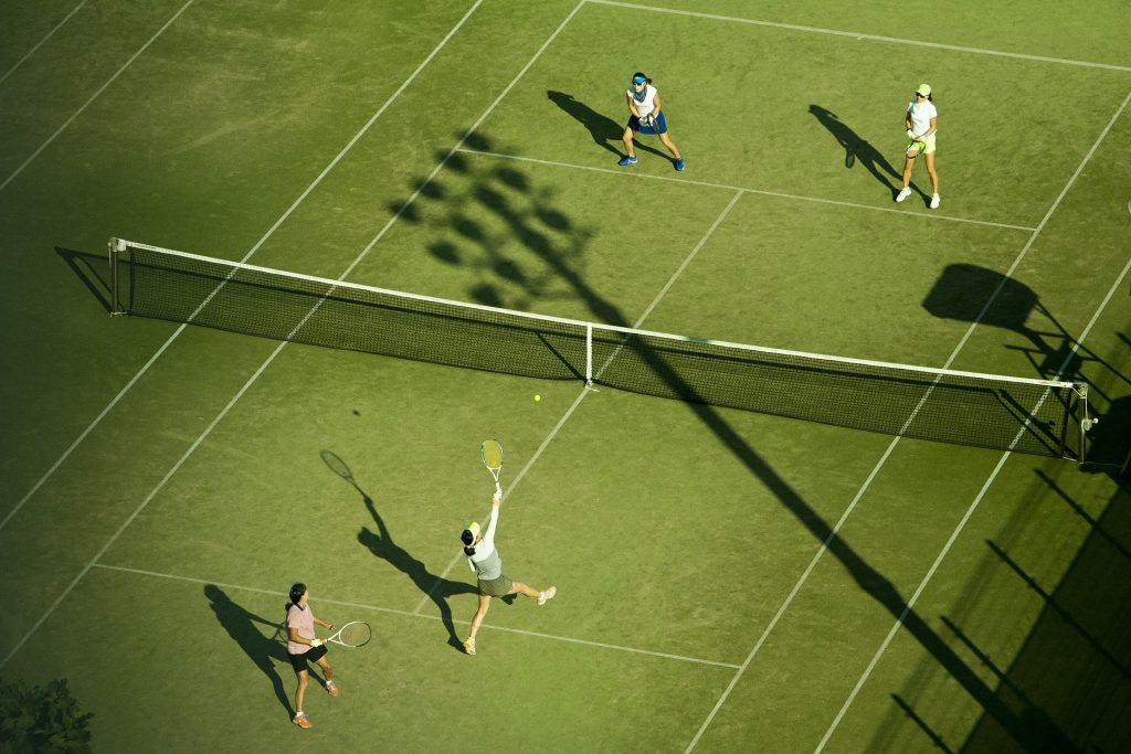 tenis, partido, campo, parejas, campeonato, 1712031852