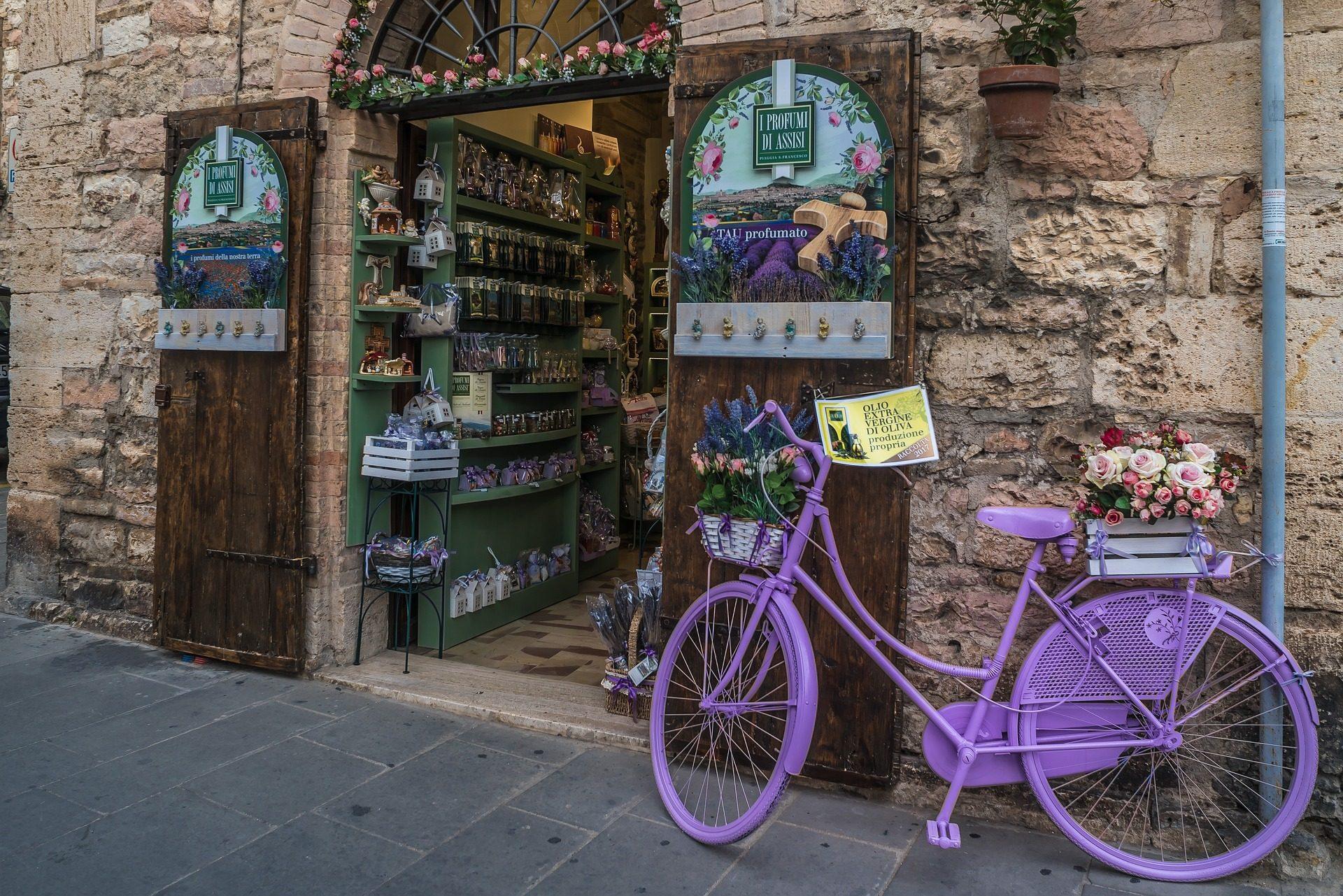 tienda, hierbas, bicicleta, casa, piedras - Fondos de Pantalla HD - professor-falken.com