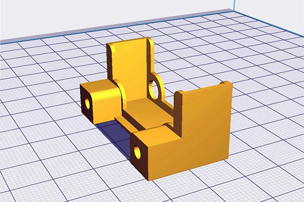 Soporte para el ventilador del motor del extrusor de la Anet A8