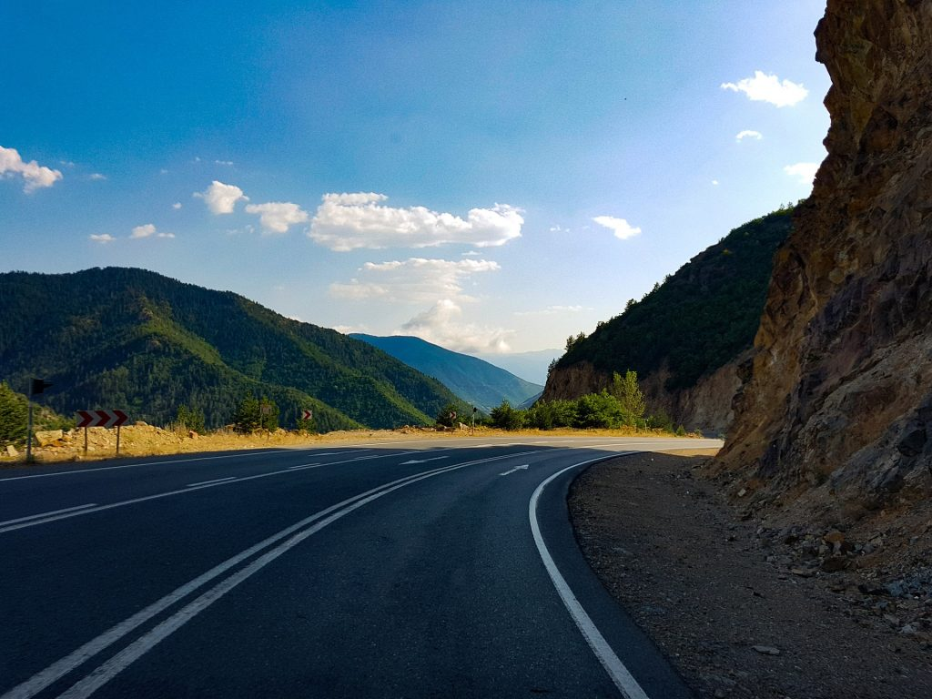 carretera, curva, camino, montañas, viaje, 1801181712
