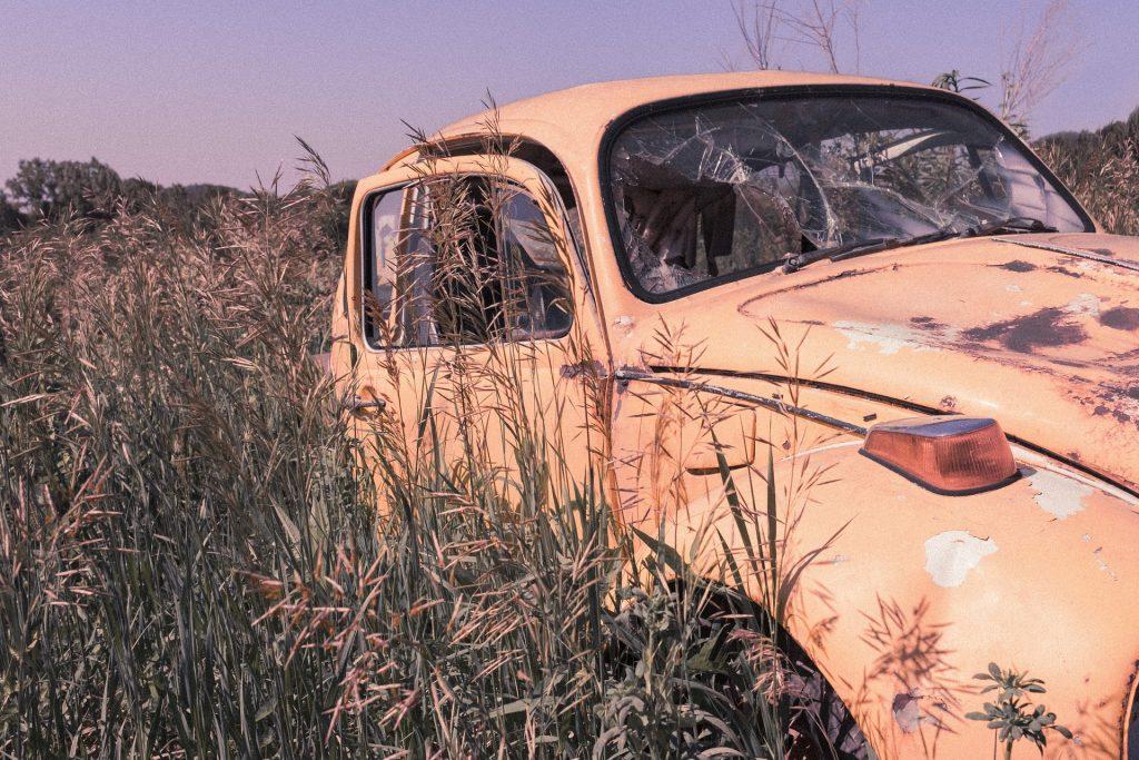 汽车, 被遗弃, viejo, 破碎老uo, 年份, 字段, 1801141455