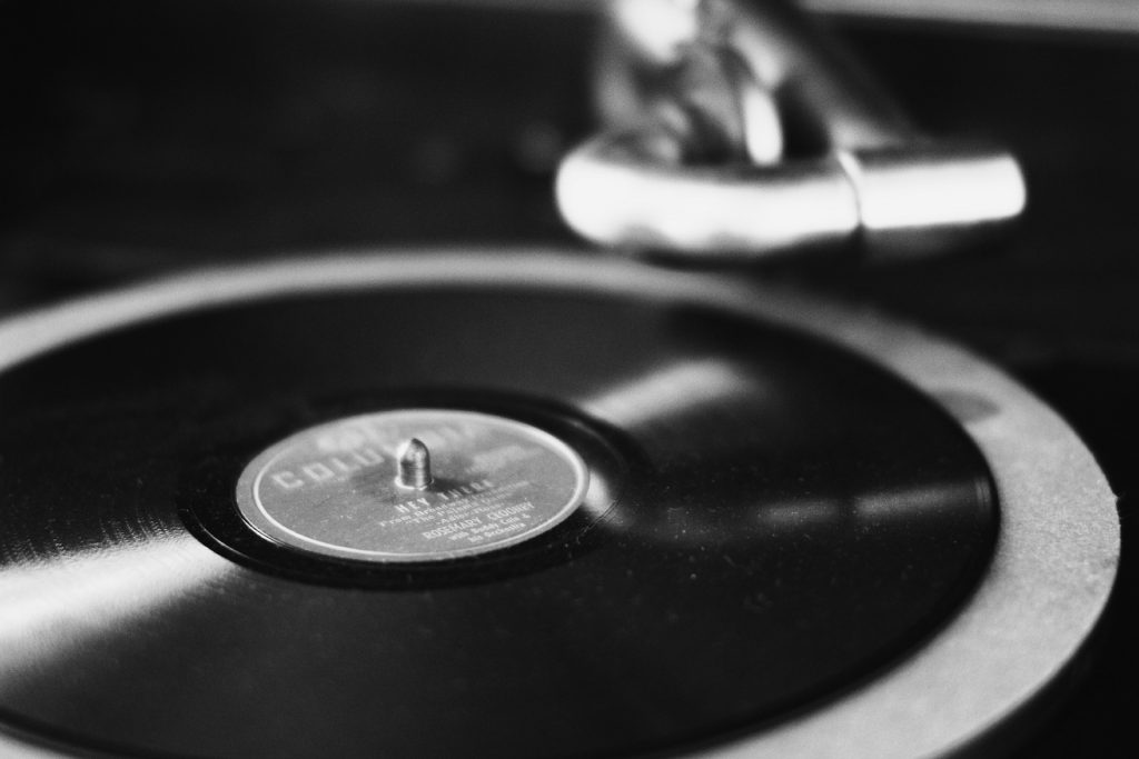 disco, Vinil, velho, vintage, em preto e branco, 1801141045