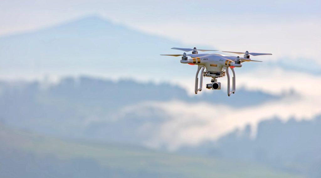 dron, vuelo, hélices, cámara, montañas, 1801211059