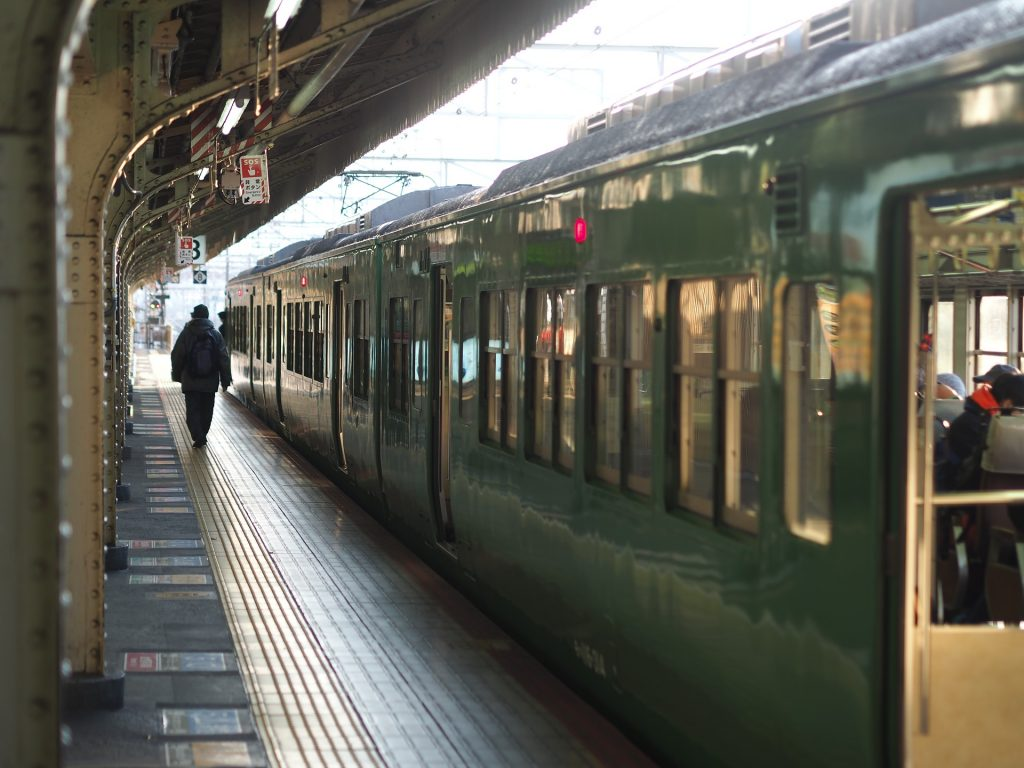 车站, 火车, pasajero, vías, 平台, 1801131350