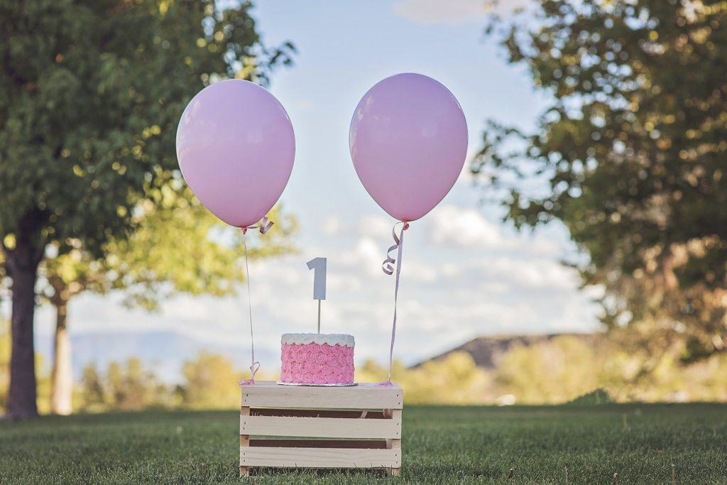 气球, tarta, 生日, 周年, pastel, 花蛋糕��木, 1801121554