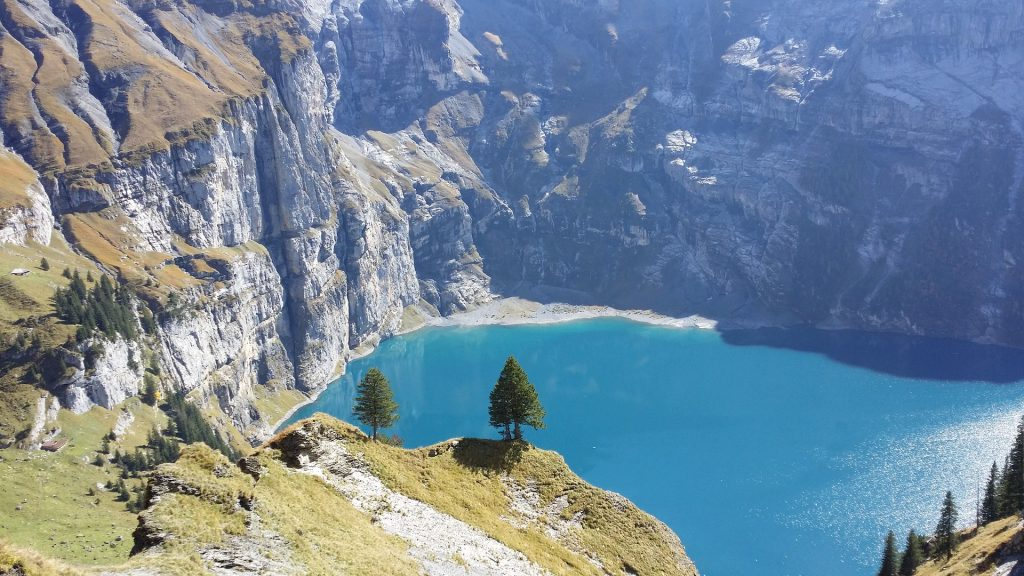 montañas, precipicio, alturas, lago, río, árboles, 1801182030