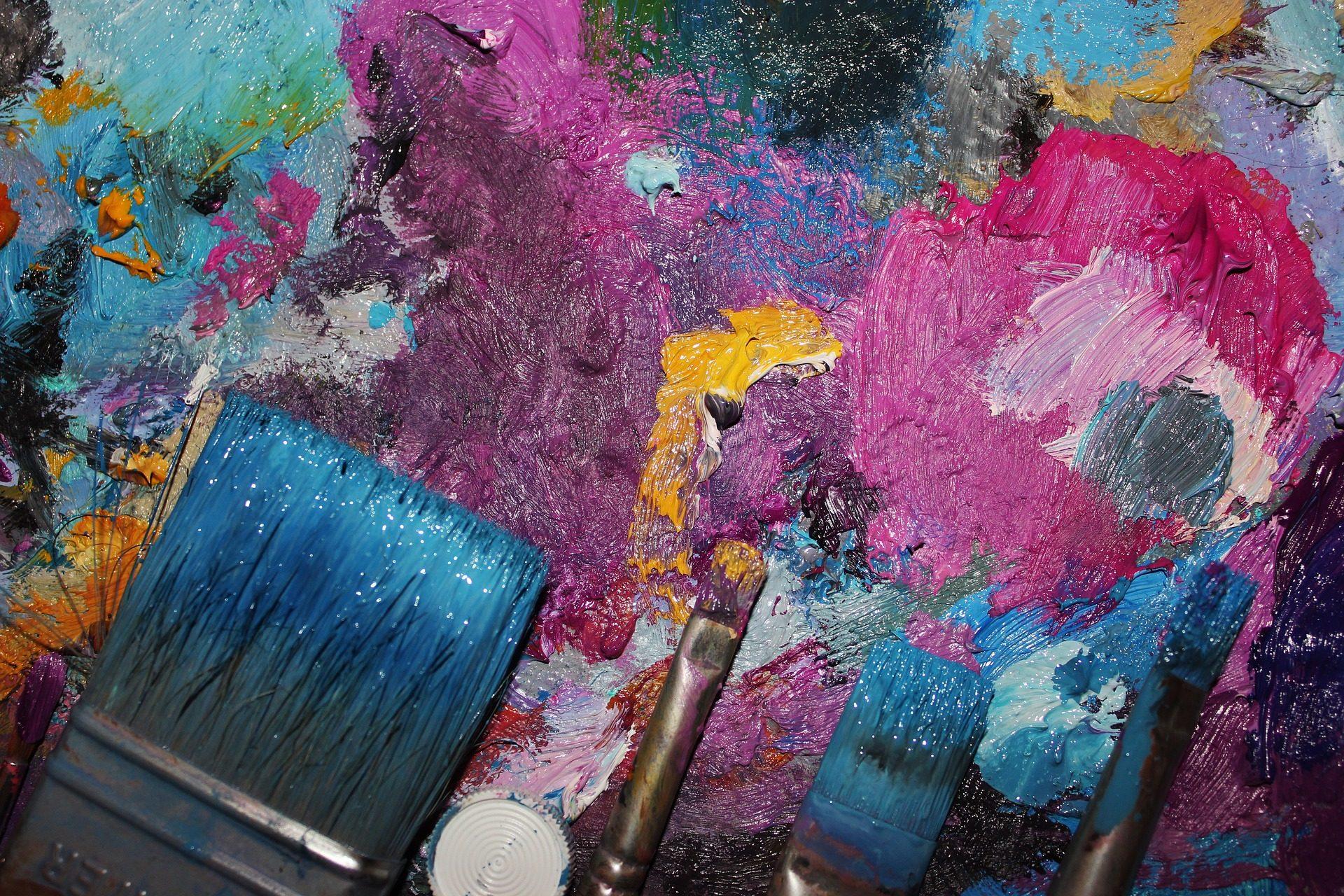 Colorful Tree Fondo De Pantalla De Pinturas Oleo Brochas Pinceles