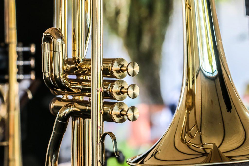 trombeta, instrumento, brilho, reflexões, Dorado, 1801240841