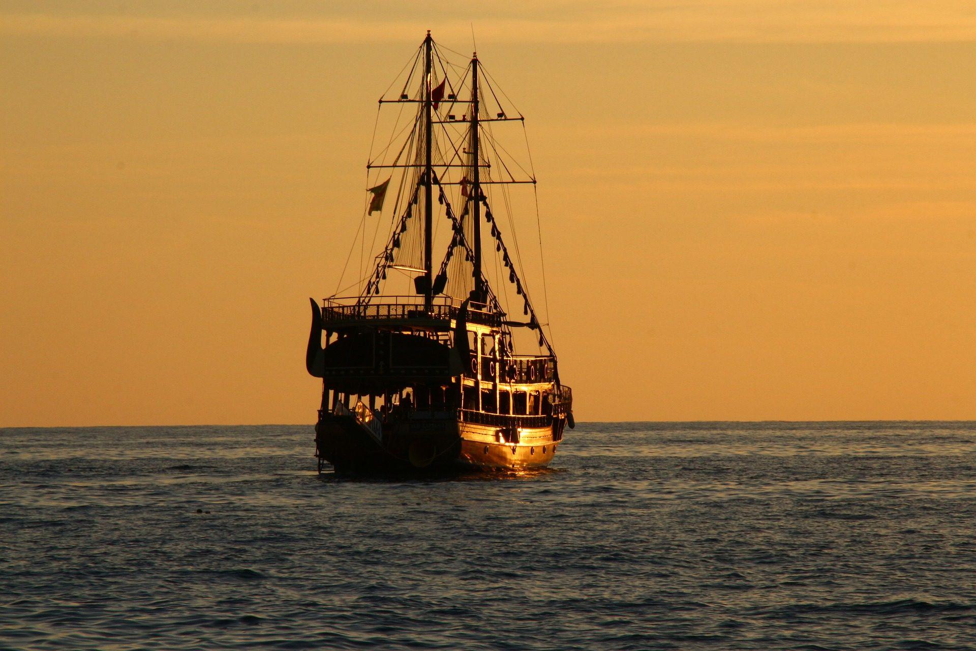 नाव, जहाज, ब्राउज़ करें, सूर्यास्त, महासागर - HD वॉलपेपर - प्रोफेसर-falken.com